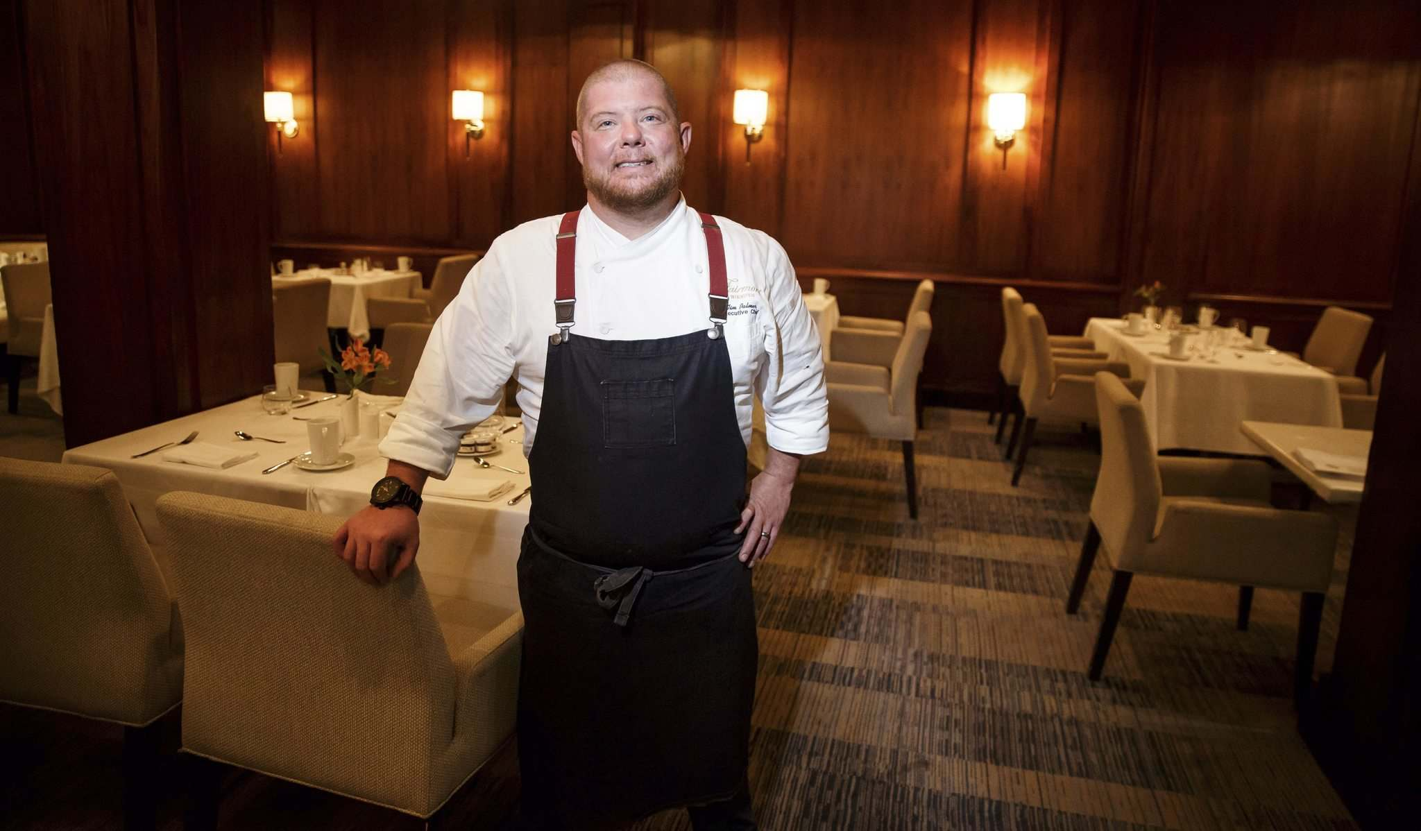 MIKE DEAL / WINNIPEG FREE PRESS</p><p>Tim Palmer, executive chef at the Fairmont Winnipeg&rsquo;s VG Restaurant, has worked to modernize the restaurant&rsquo;s menu.</p></p>