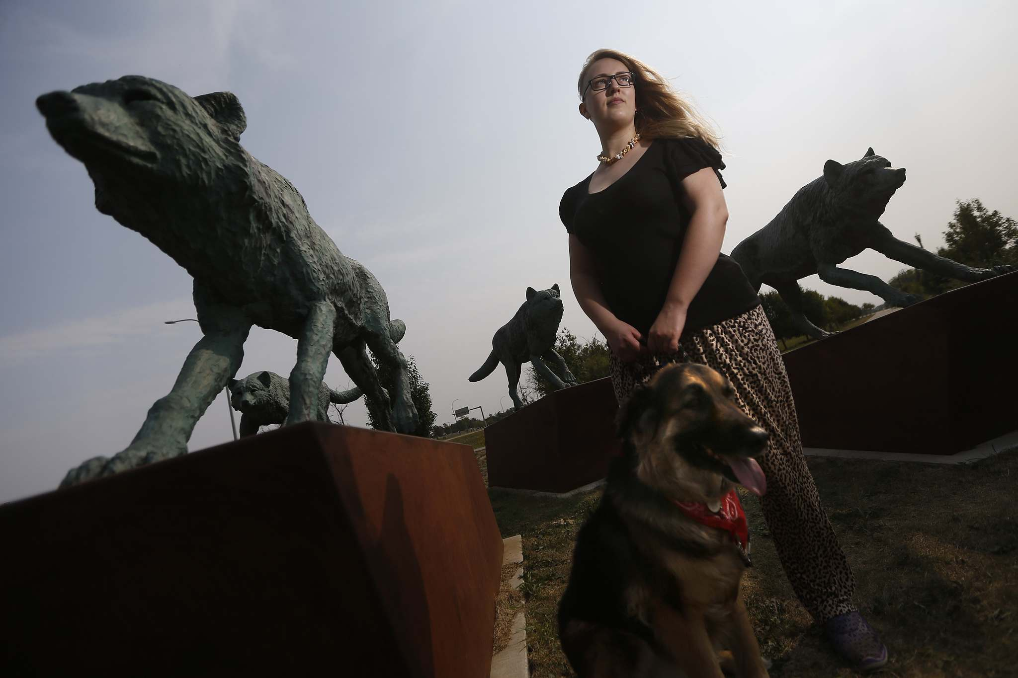 Svitlana Maluzynsky with her dog Zoey along Chief Peguis Trail: 'If there are things they can cut out of their budget, alcohol is going to be up there.' (John Woods / Winnipeg Free Press)