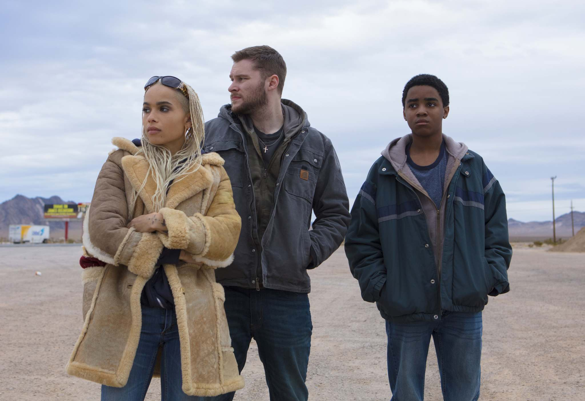 Alan Markfield / Lionsgate</p><p>Zoë Kravitz (from left), Jack Reynor and Myles Truitt star in Kin, which is based on a short film called Bag Man.</p></p>