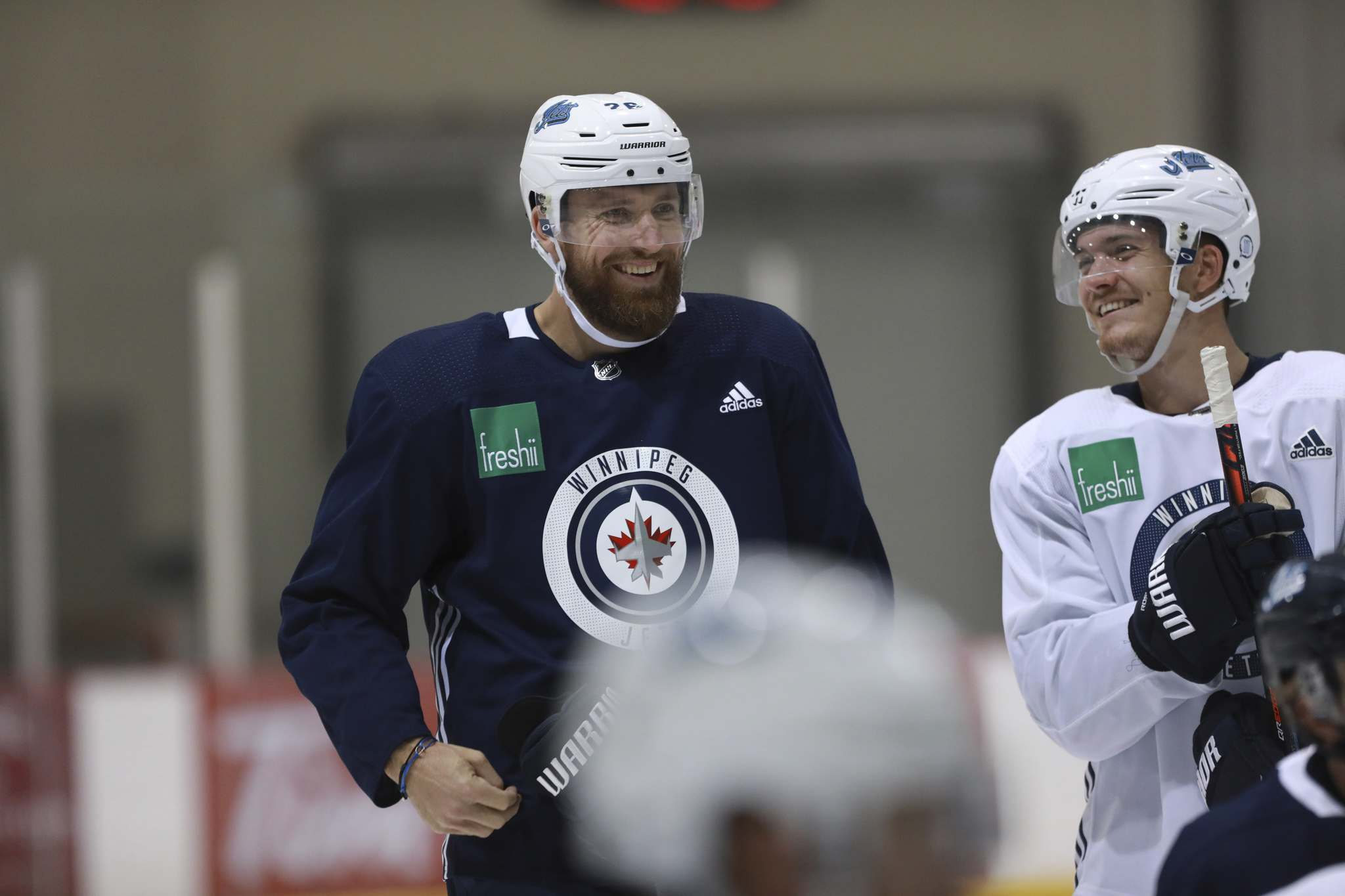 Blake Wheeler, seen with Jack Roslovic at the Iceplex Tuesday, needed time to grow into an elite NHL talent, and was given time — and space — to do so in Winnipeg. (Ruth Bonneville / Winnipeg Free Press)</p>