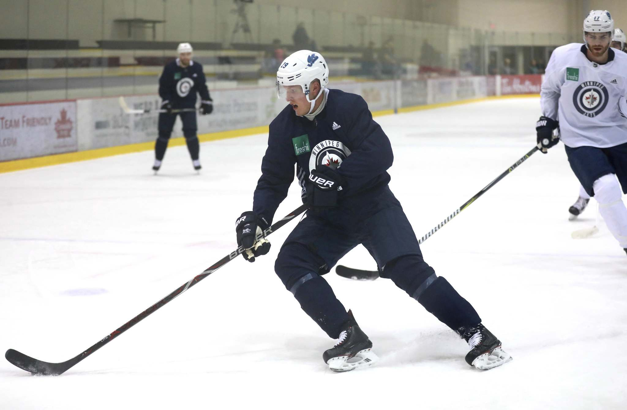 Patrik Laine hopes losing a bit of weight helps with his speed on the ice. (Ruth Bonneville / Winnipeg Free Press)</p>