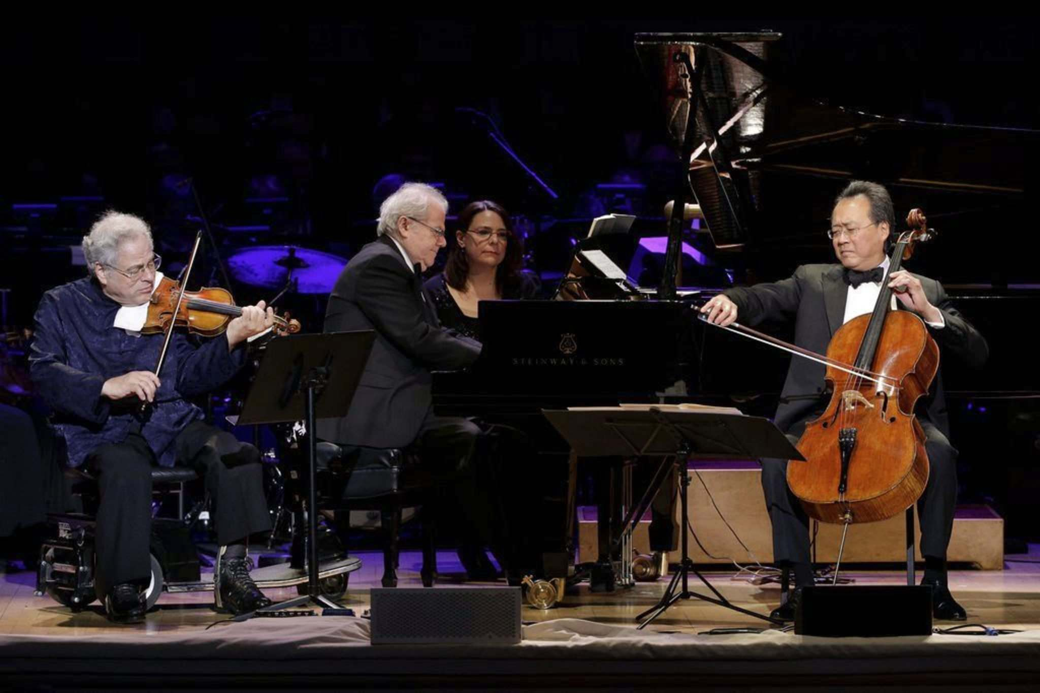Julie Jacobson / The Associated Press files</p><p>Itzhak Perlman (from left), Emanuel Ax and Yo-Yo Ma perform together at Carnegie Hall's 125th Anniversary Concert in New York.</p></p>