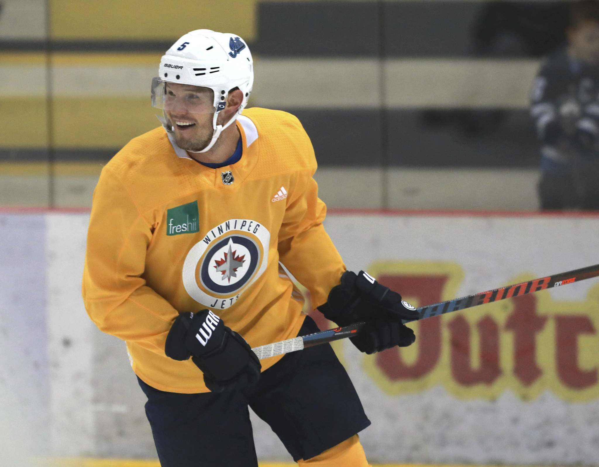 Dmitry Kulikov is far along the road to in his recovery from off-season back surgery and should be a full participant when training camp opens later this week. (Ruth Bonneville / Winnipeg Free Press)</p>