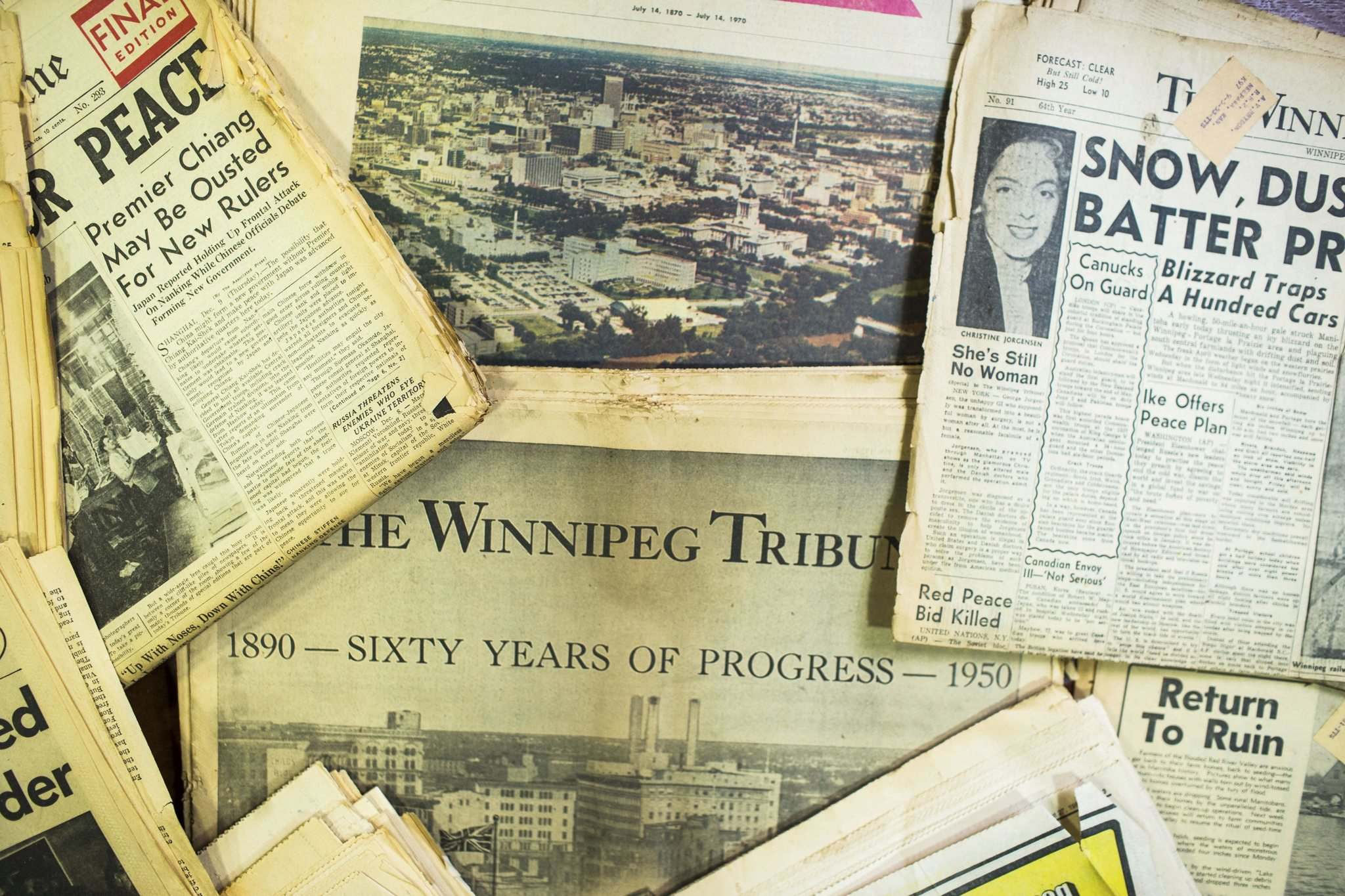The Winnipeg Tribune was published for 90 years from 1890 until Aug. 27, 1980. (Mikaela MacKenzie / Winnipeg Free Press)
