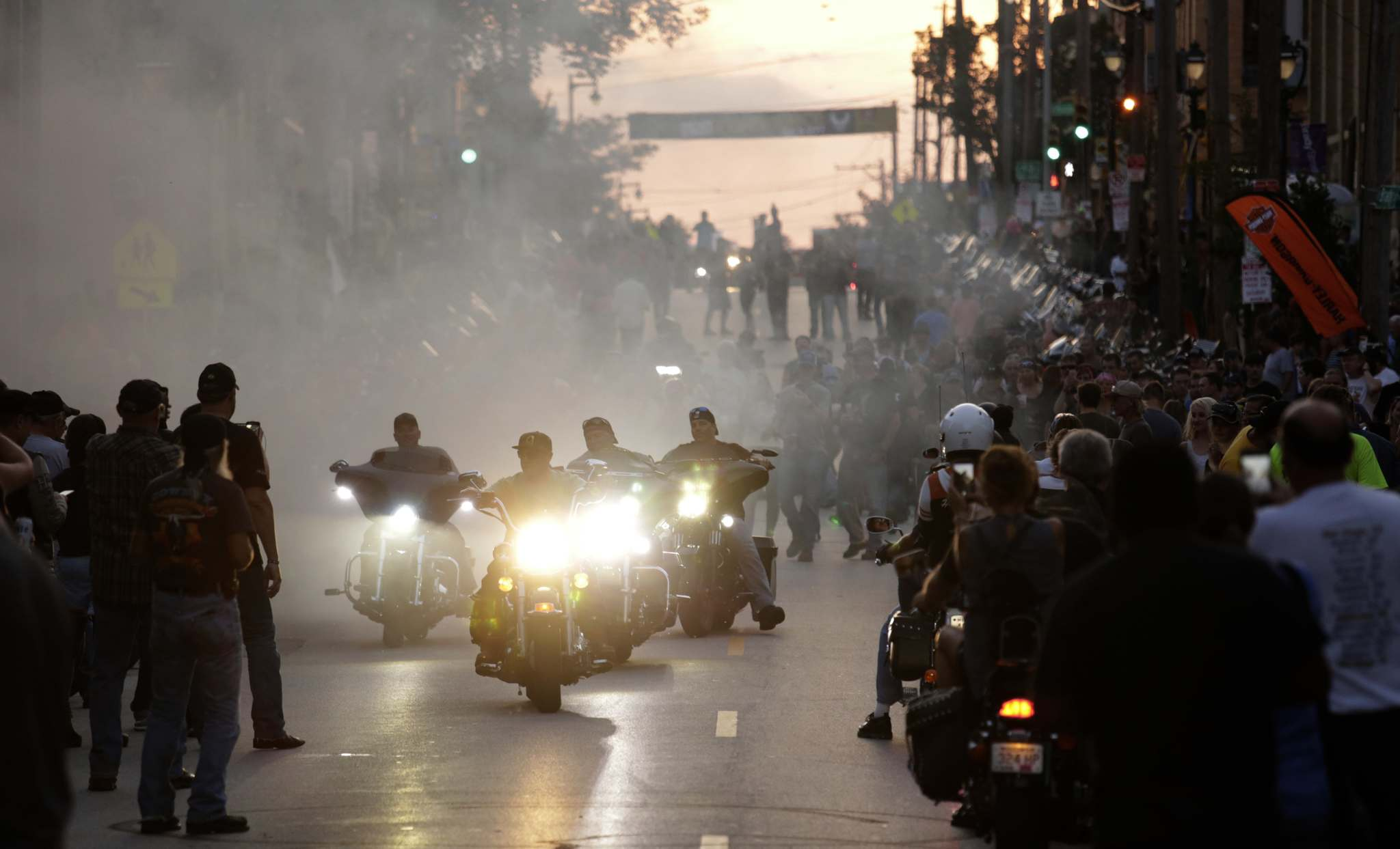 Darren Hauck / The Associated PressMotorcycle enthusiasts from around the world celebrated on Brady Street in Milwaukee during Harley-Davidson's 115th anniversary party.