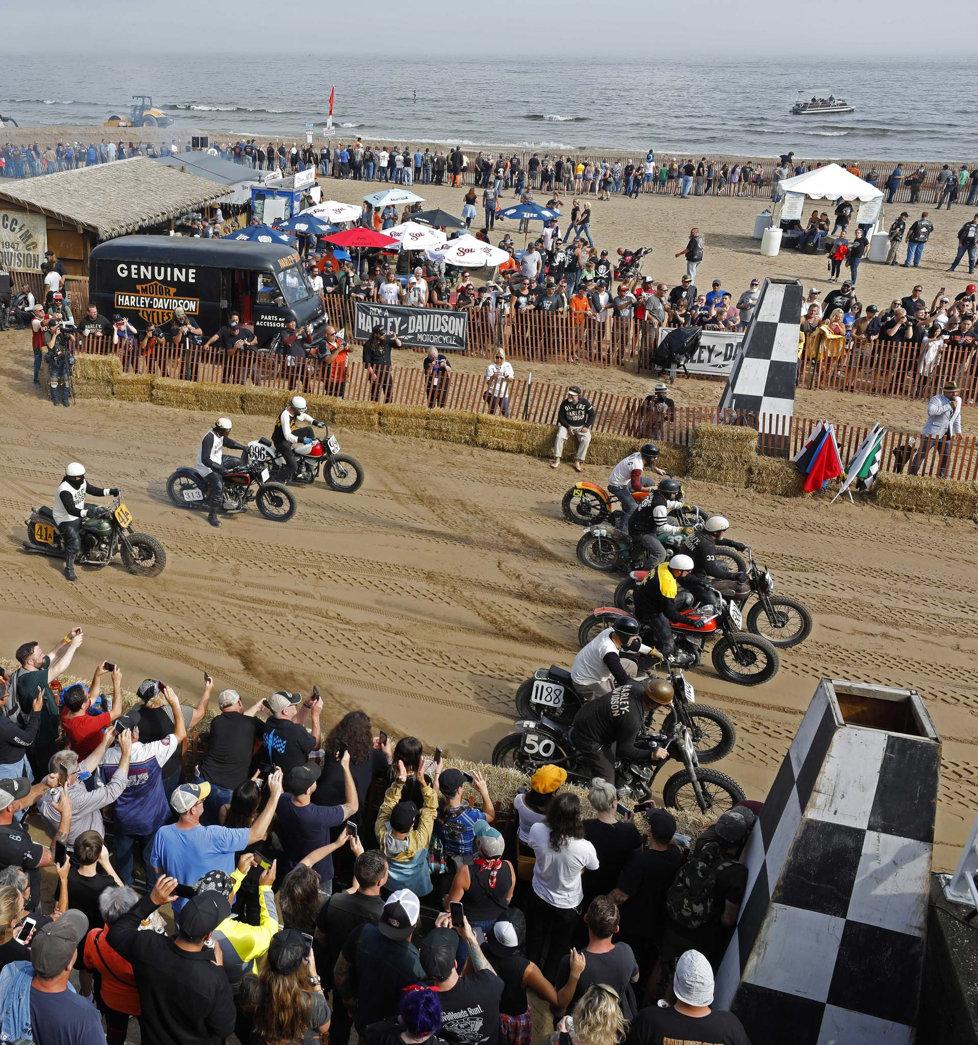 Jeffrey Phelps / The Associated PressWilly is kicking himself for missing the motorcycle races at Bradford Beach in Milwaukee. He'll have to wait until 2023 to see the races again.