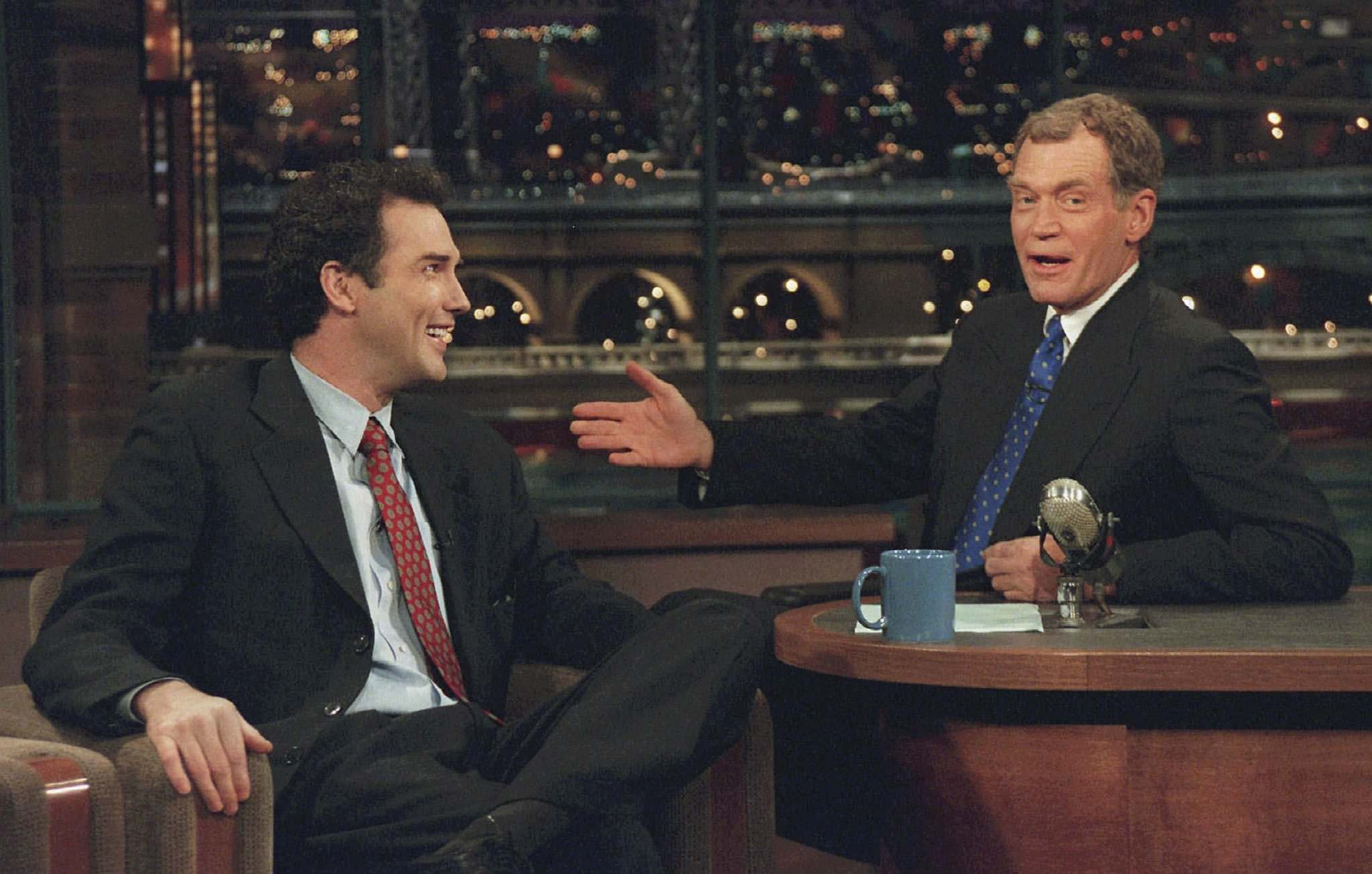 A.F. Singer / CBS files</p><p>Comedian Norm MacDonald (left) was hailed as &#8216;the funniest man in the world&rsquo; by late night TV talk show host David Letterman.</p></p>
