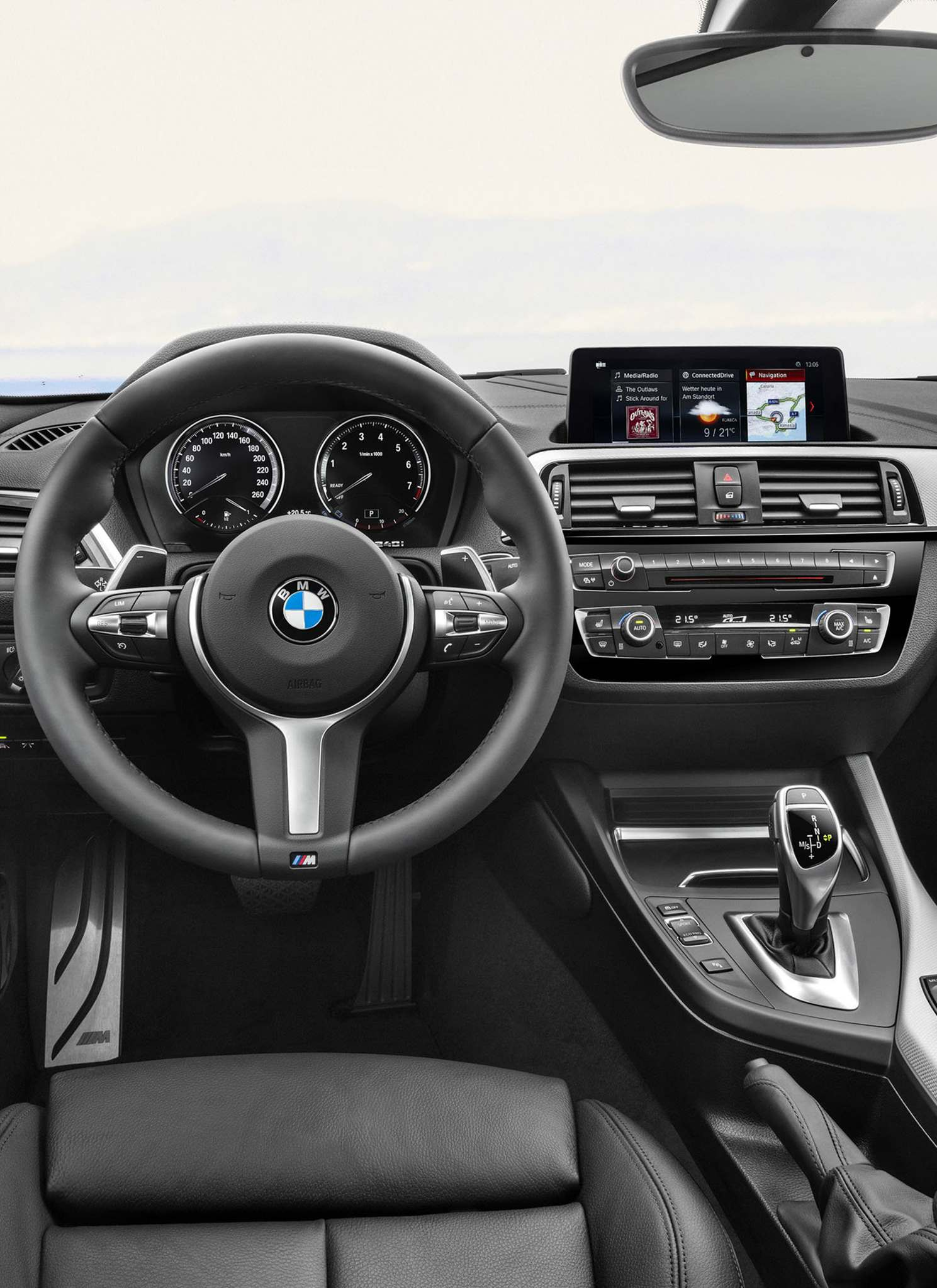 The driver assistance package includes adaptive headlights with automatic high beams, while performance exhaust, Harmon Kardon audio and sunset-orange metallic paint are stand-alone options. (BMW)