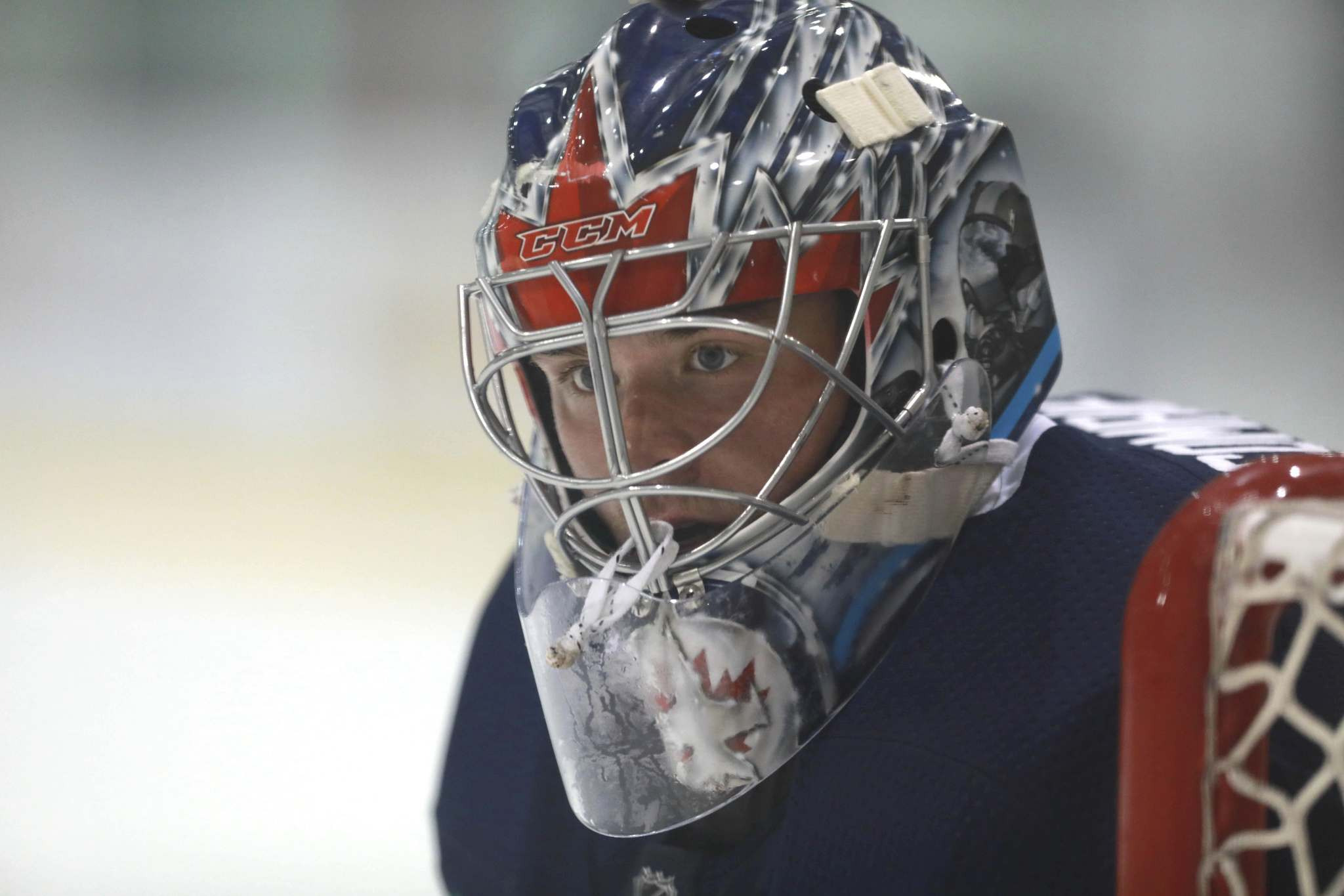 Eric Comrie is third on the Jets' goaltending depth chart and should get sent to the Manitoba Moose this weekend. (Ruth Bonneville / Winnipeg Free Press)</p></p>