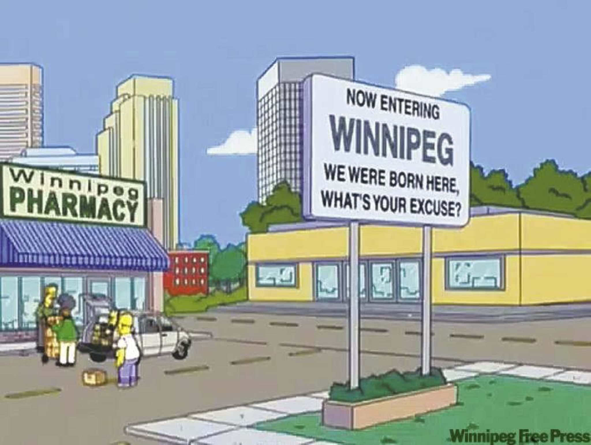 The Simpsons had some fun at Winnipeg's expense, but who cares? We were on The Simpsons!</p></p>