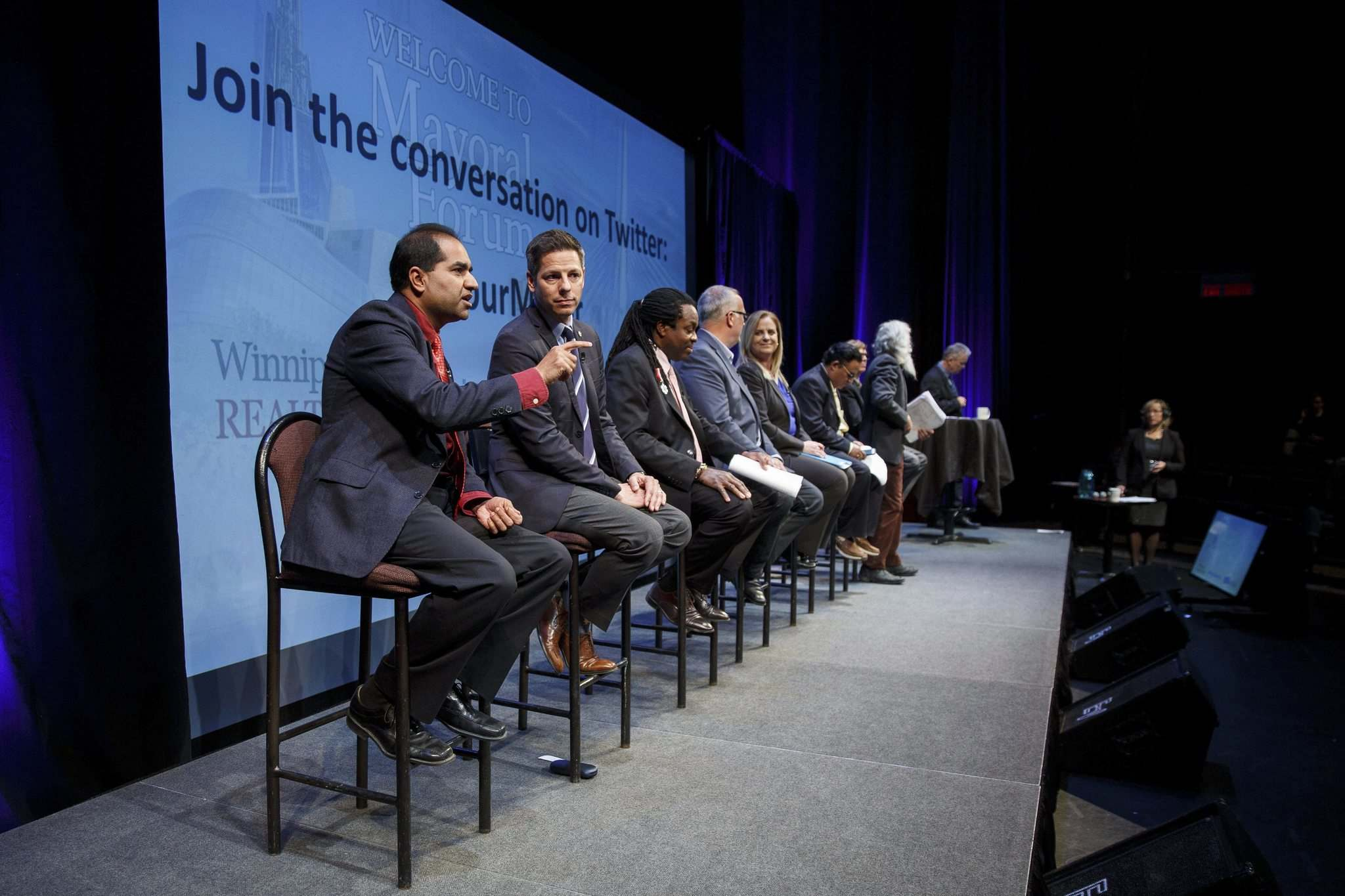 MIKE DEAL / WINNIPEG FREE PRESS</p><p>All eight of Winnipeg's mayoral candidates have participated in forums such as this Oct. 4 event hosted by WinnipegREALTORS and the <em>Winnipeg Free Press</em>.</p>