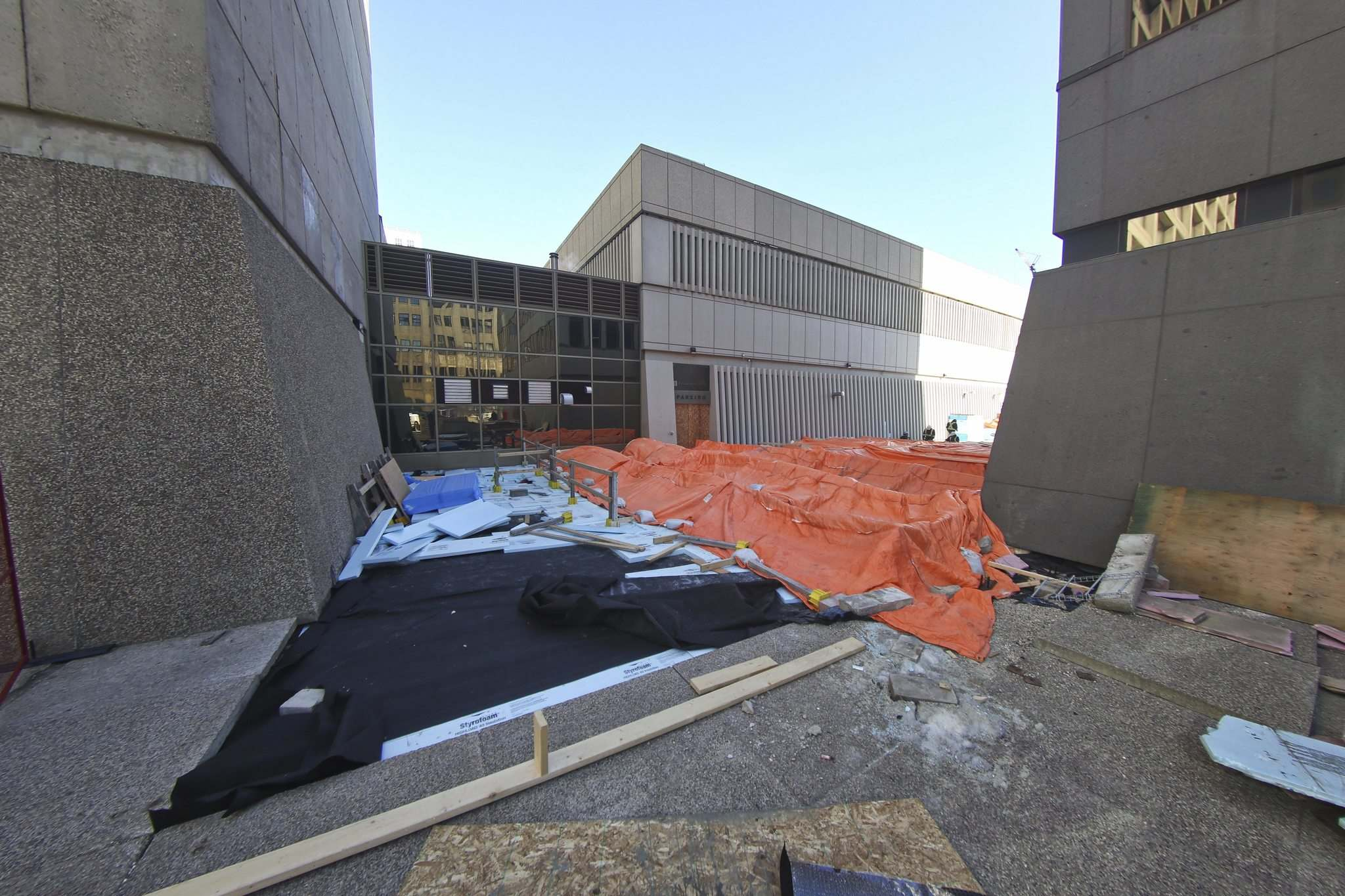 Preliminary engineering studies conducted by the owners of two properties at Portage and Main show conclusively that damage to the membrane is far more significant than first thought.