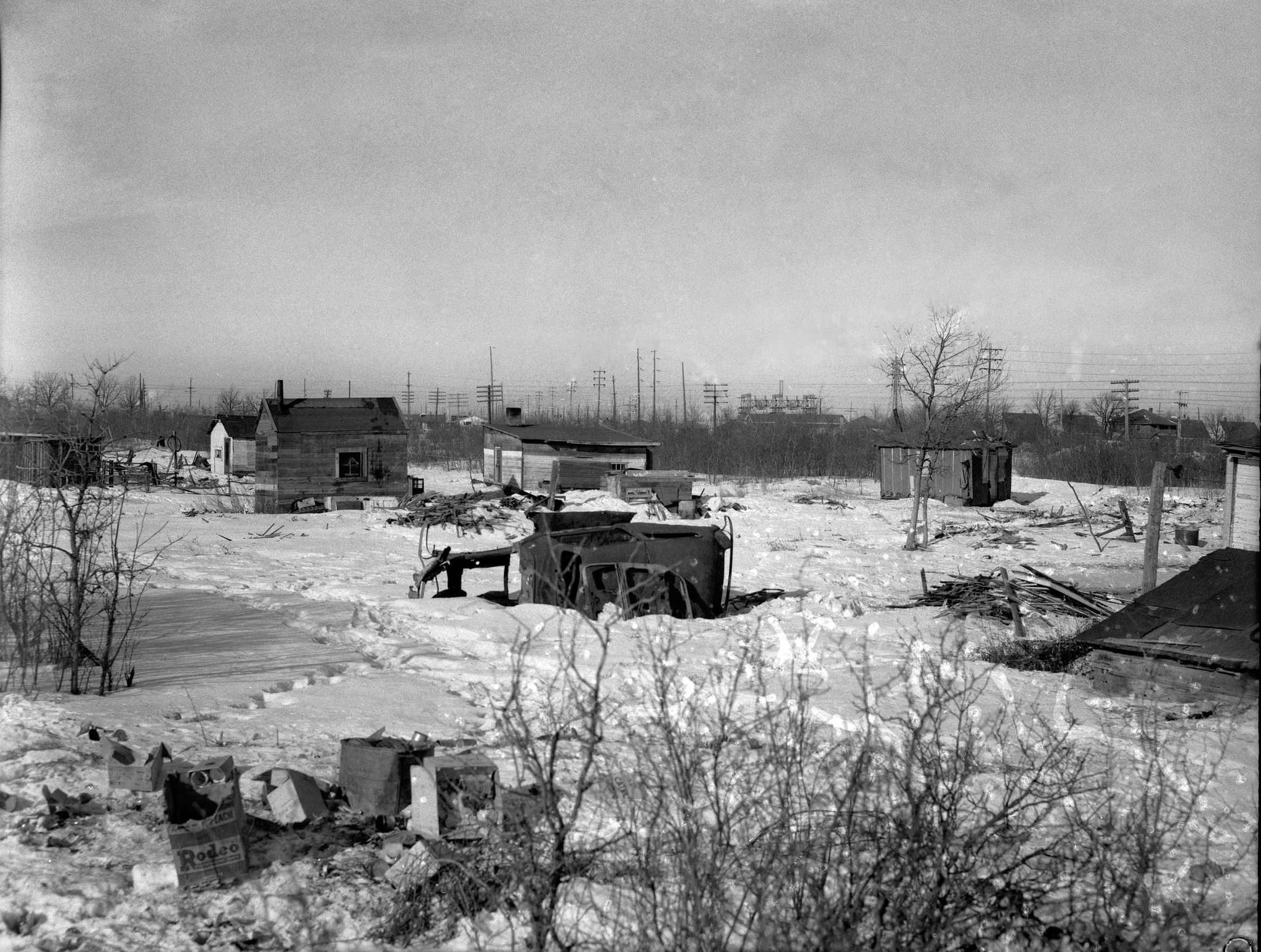 Gerry Cairns / Winnipeg Free Press Collection, Archives of Manitoba</p><p>Rooster Town is seen in March 1959. Soon afterward, residents were evicted and the buildings demolished to make way for new development.</p></p>