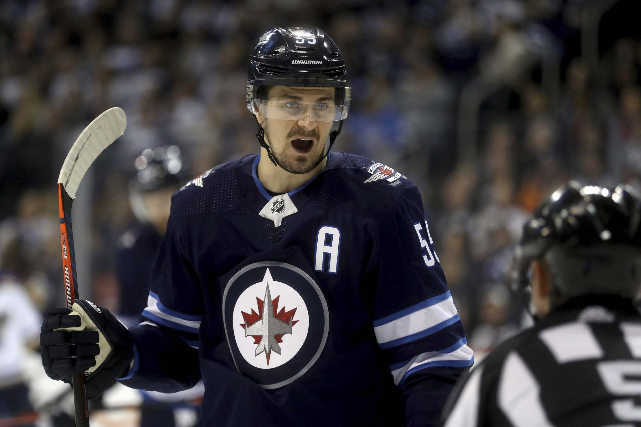 Trevor Hagan / THE CANADIAN PRESS</p><p>Winnipeg Jets' Mark Scheifele was named the NHL's second star of the week after he scored four goals and had three assissts in four games last week.</p>