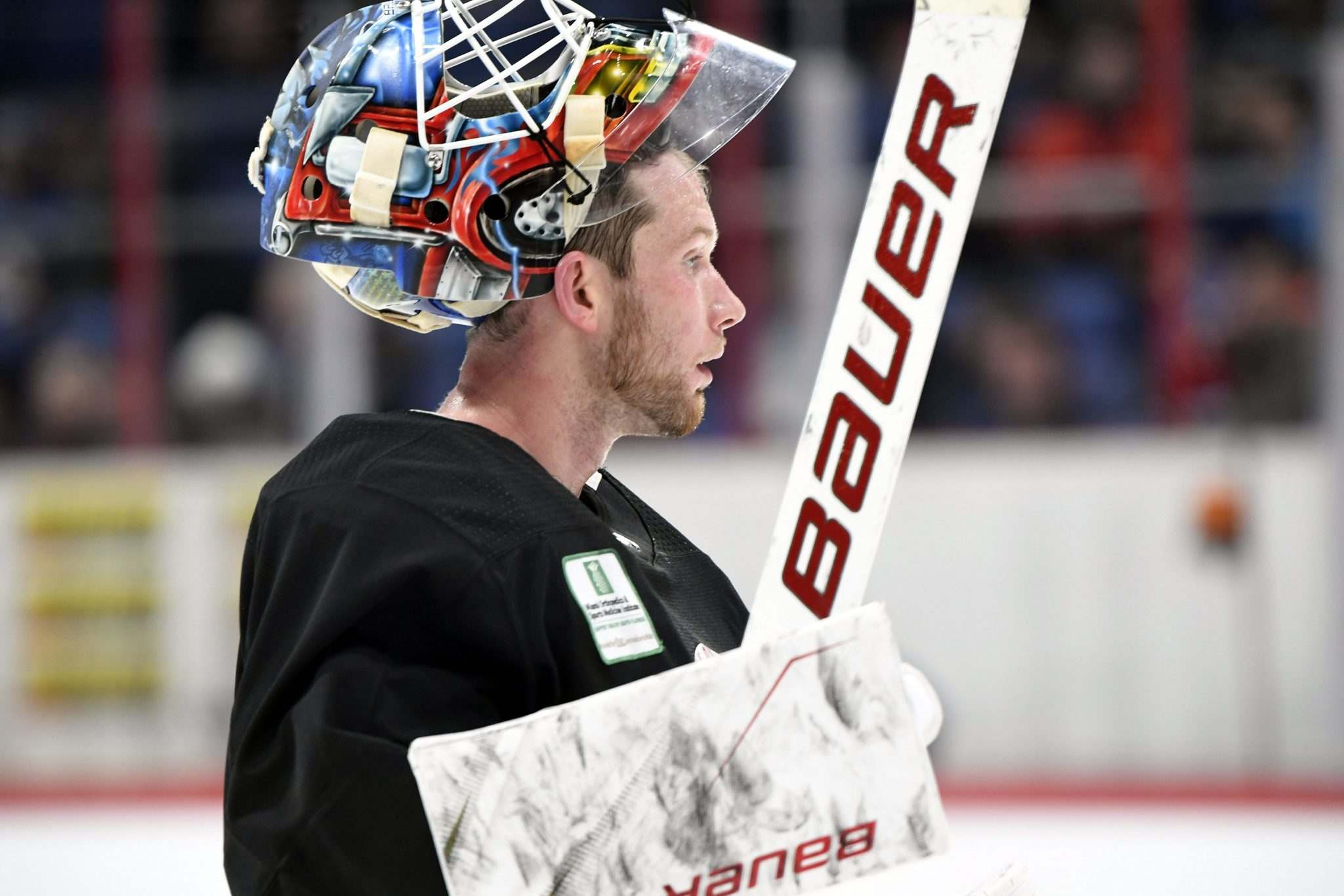 <p>Florida Panthers netminder and Manitoba product James Reimer practises in Helsinki, Finland, on Halloween ahead of the team's NHL Global Series matchup against the Winnipeg Jets.</p></p>