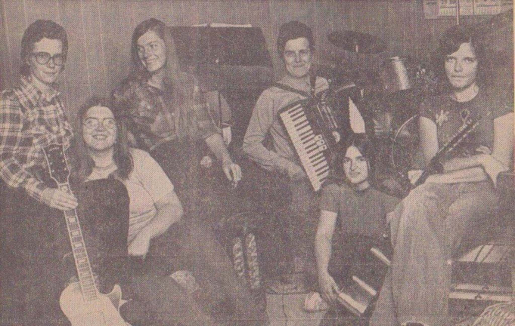 Supplied</p><p>Heather Bishop (left) and her all-female dance band Walpurgis Night in 1972.</p></p>