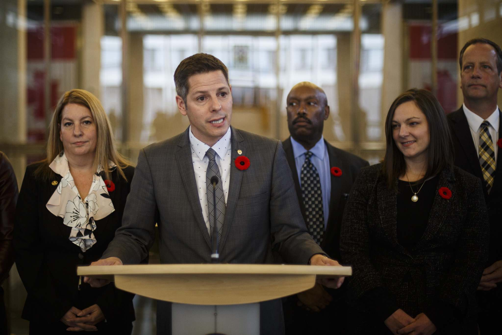 MIKE DEAL / WINNIPEG FREE PRESS</p><p>Mayor Brian Bowman announces his appointments to the executive policy committee, and his selections for Deputy Mayor and Acting Deputy Mayor at City Hall Monday afternoon. </p>