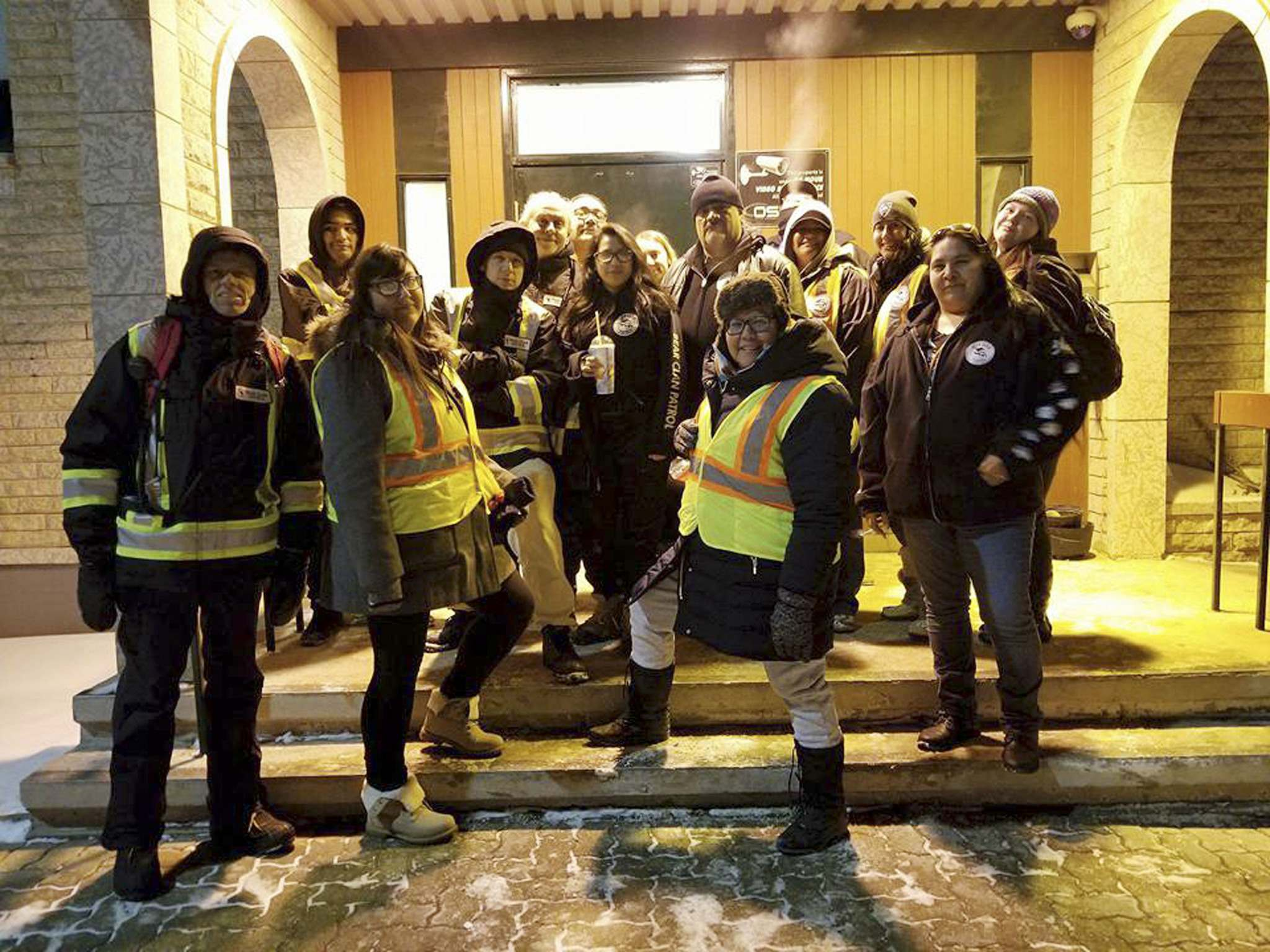"""McLeod says the group used the funding for """"gloves that you can pick up sharps with, vests so you can be seen at night, flashlights so they can look for people who are hidden and freezing in the evening."""" (Facebook photo / Free Press files)</p></p>"""