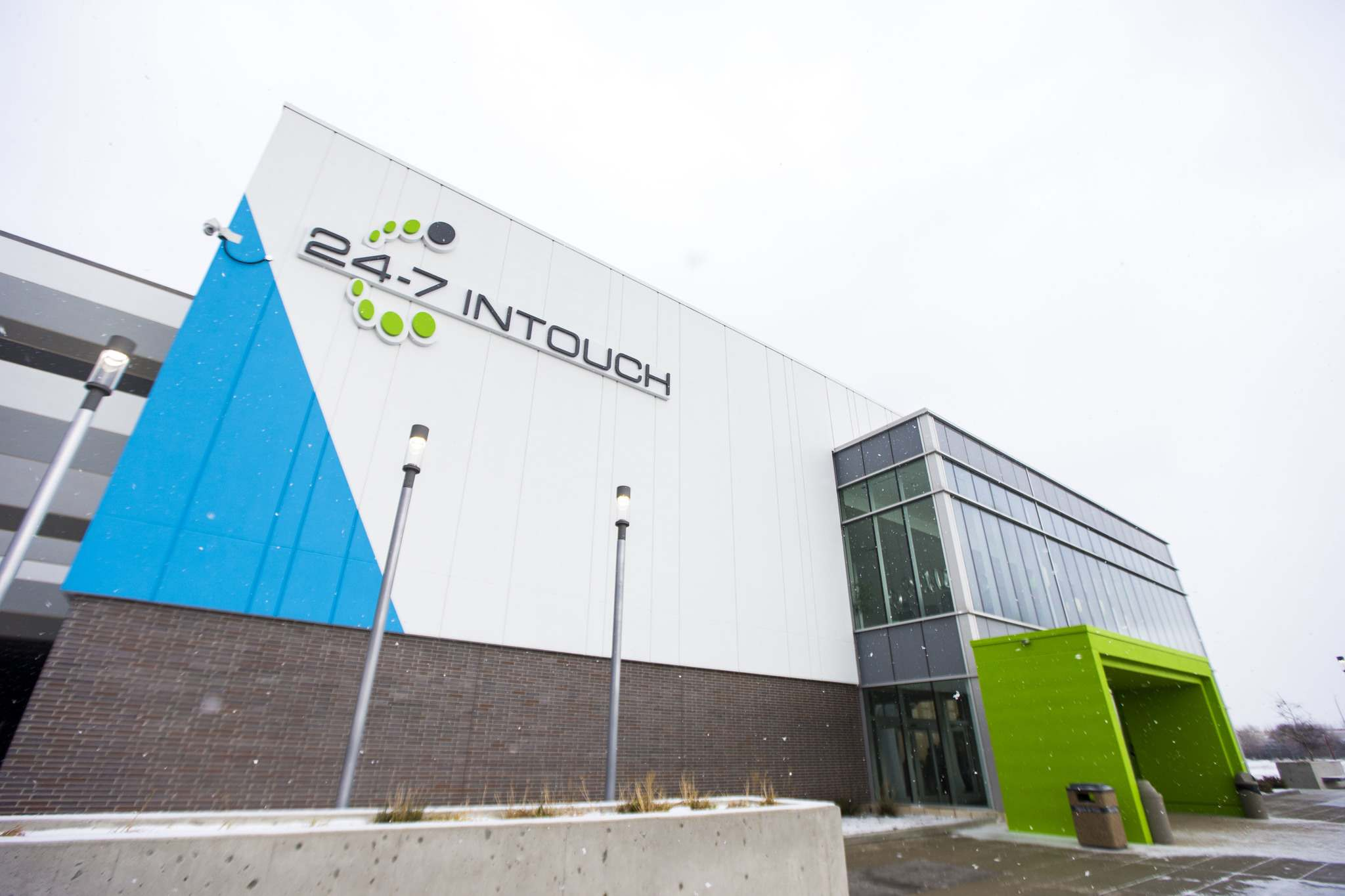 photos by MIKAELA MACKENZIE / WINNIPEG FREE PRESS</p><p>The new 24-7 Intouch campus at Polo Park (above and below), a customer-contact centre, employs 500 people. That number may double in a few years.</p>