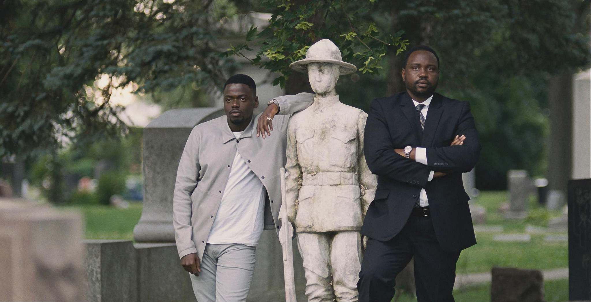 Daniel Kaluuya (left) and Brian Tyree Henry play criminal brothers in Widows who want their missing cash back. (20th Century Fox)</p>