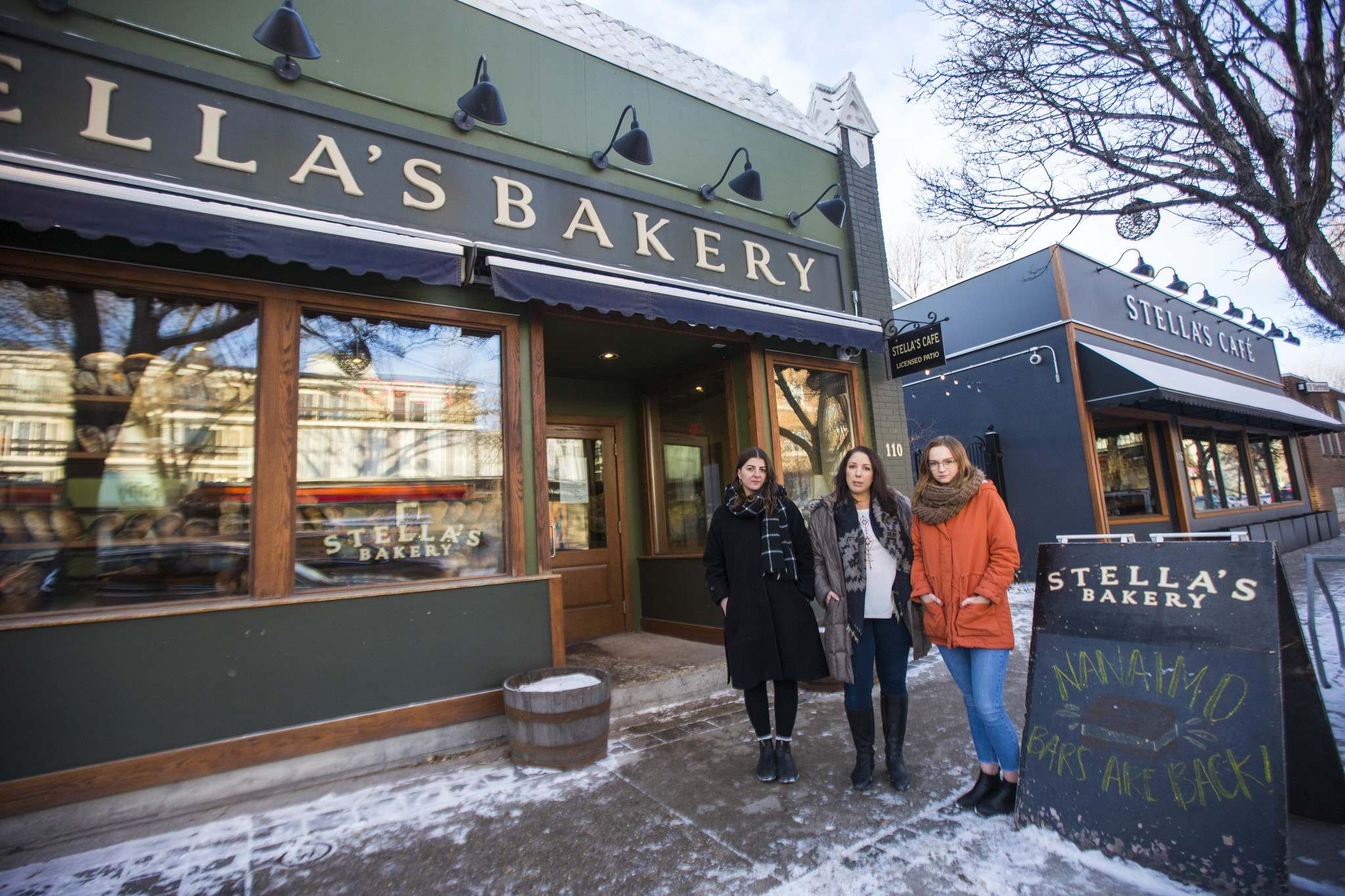 Christina Hajjar (from left), Amanda Murdock and Kelsey Wade are part of the #notmystellas movement that exposed the culture of harassment at the popular Winnipeg restaurant. (Mikaela MacKenzie / Winnipeg Free Press files)</p>