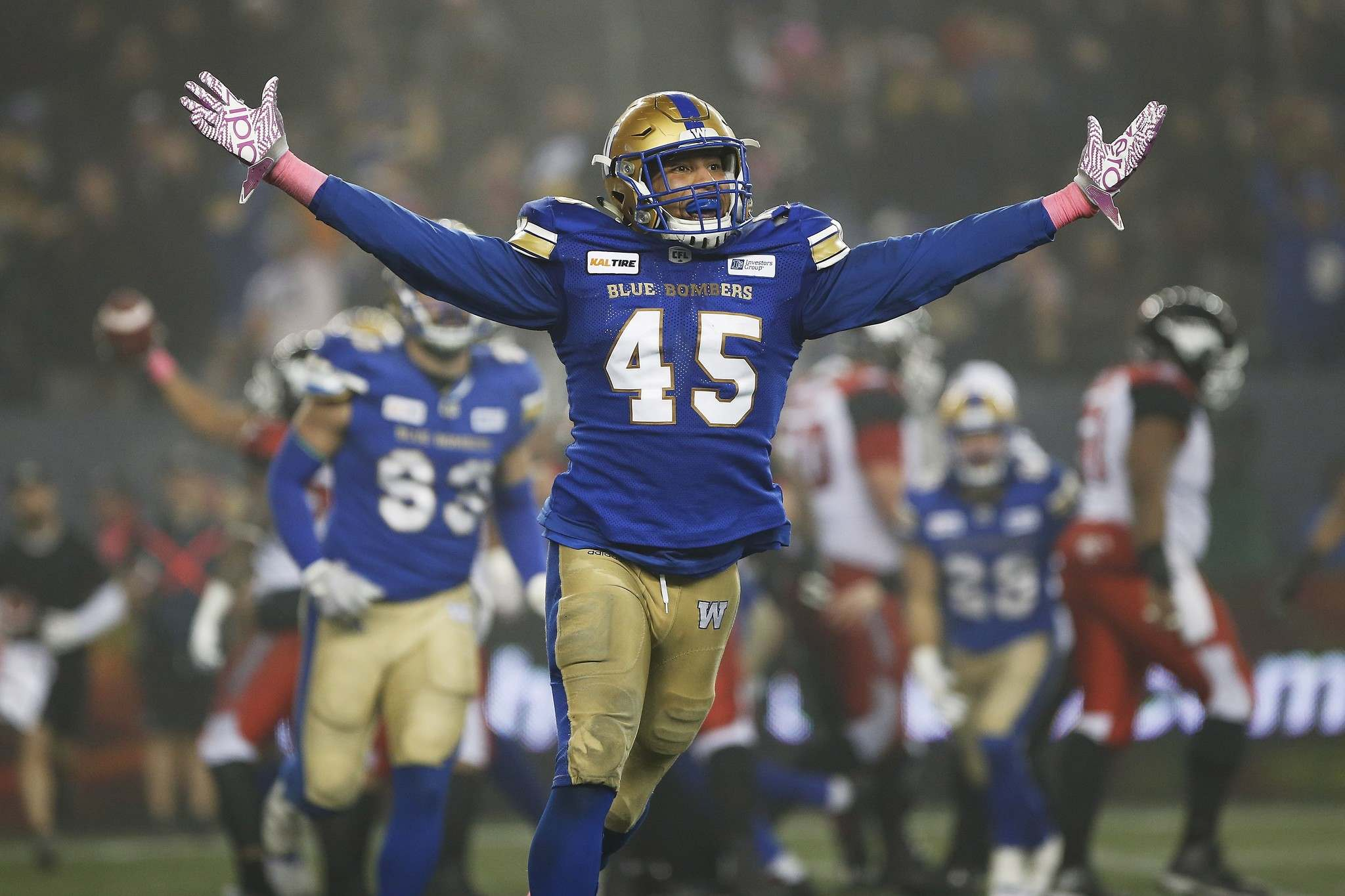THE CANADIAN PRESS/John Woods</p><p>Winnipeg Blue Bombers&#39; Jovan Santos-Knox is one of many free agents that the Bombers will have to re-sign or replace this off-season.</p>