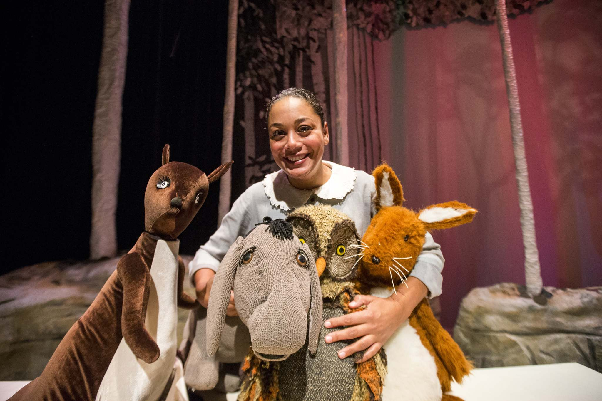 Cherissa Richards, who voices Owl, Eeyore, Kanga and Roo, stars in House on Pooh Corner at the Manitoba Theatre for Young People.