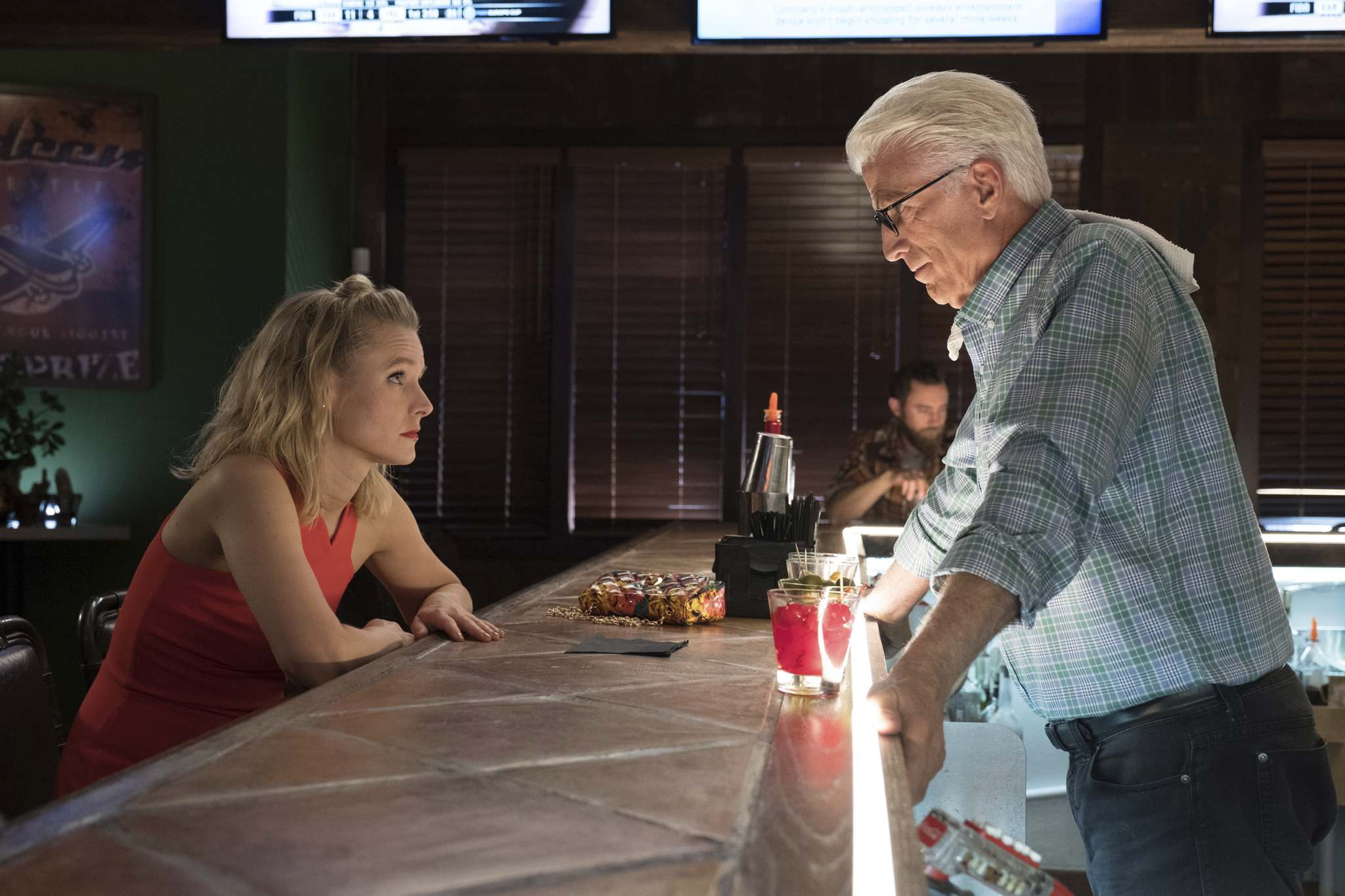 Colleen Hayes / NBC</p><p>Kristen Bell (left) and Ted Danson star in The Good Place. In addition to building a decades-strong television career, Danson is also a longtime advocate for protecting oceans.</p></p>