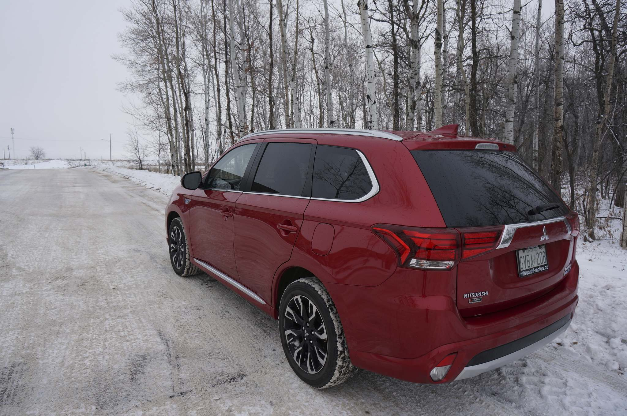 Photos by Haney Louka / Winnipeg Free PressDriving in winter conditions forces the Outlander PHEV to rely more on its gasoline engine, resulting in a clear increase in fuel consumption.