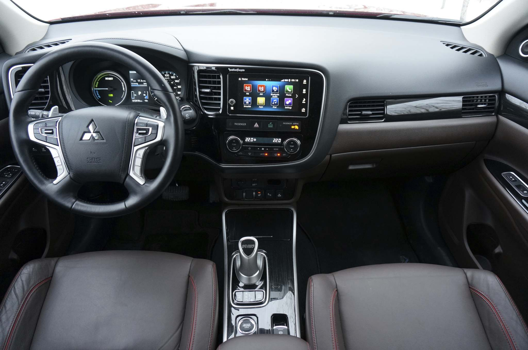 The Outlander's heating system can be controlled using a mobile app or on-screen menus.