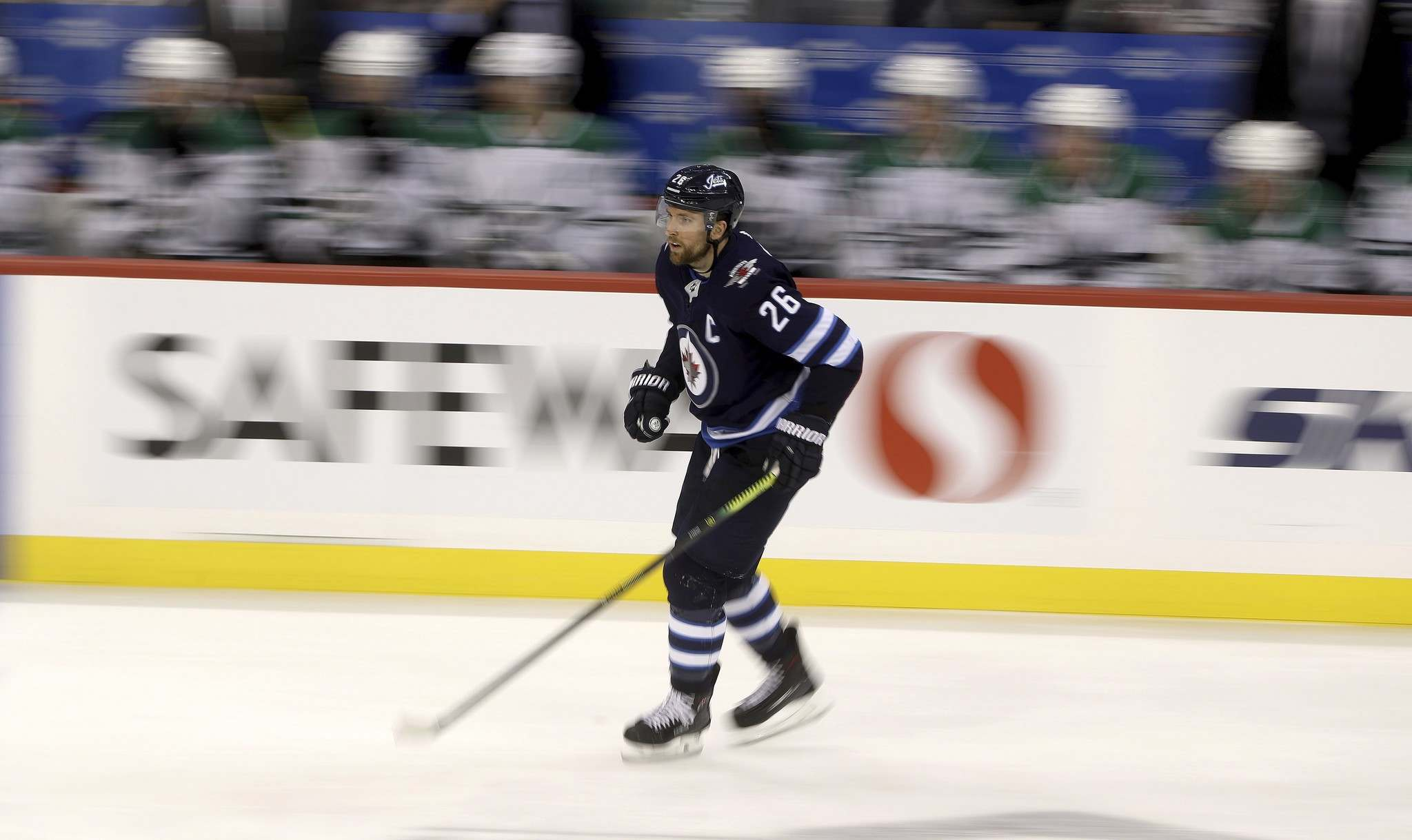 Blake Wheeler has yet to score on the power play but has 19 assists. (Trevor Hagan / The Canadian Press)</p>