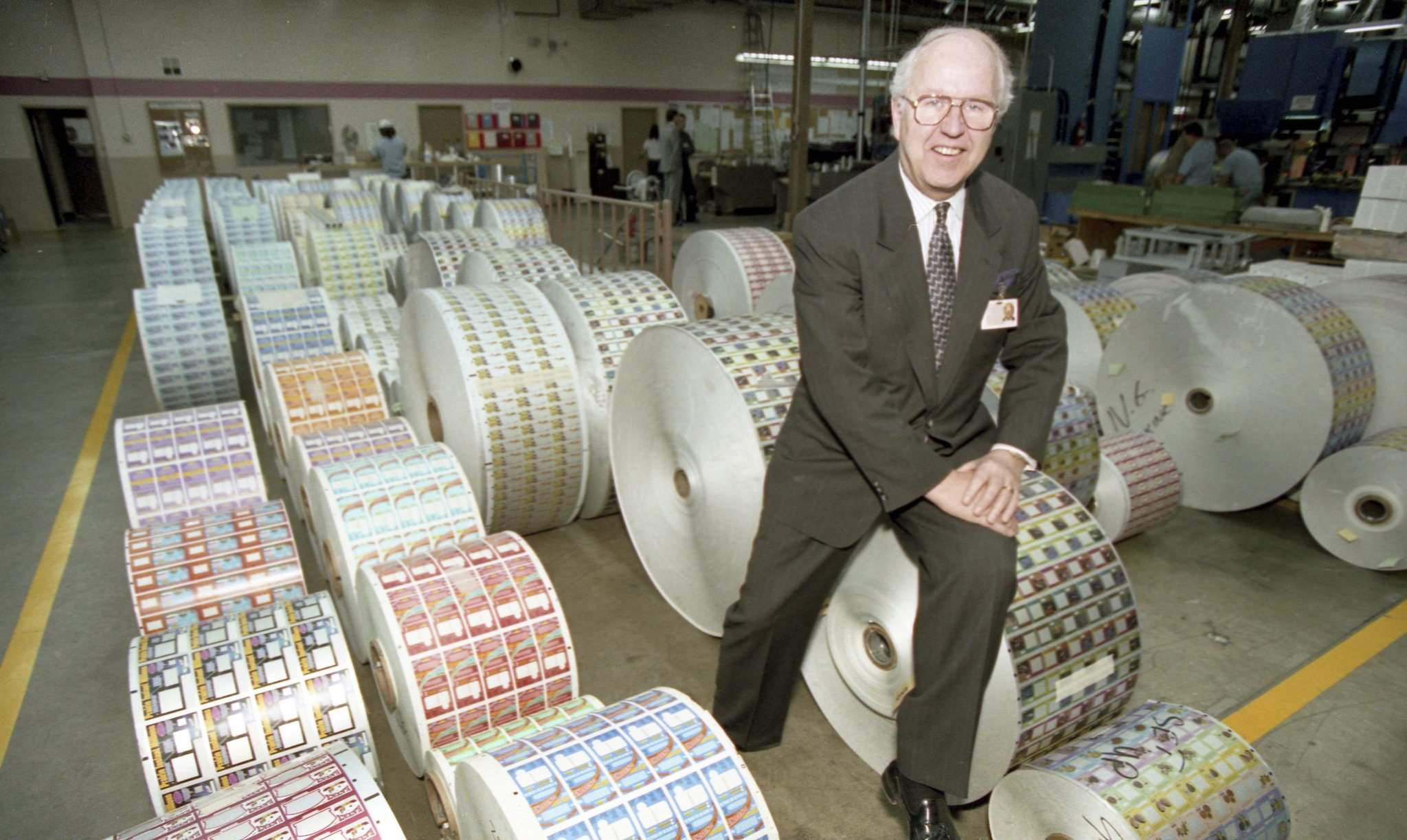 MARC GALLANT / WINNIPEG FREE PRESS FILES</p><p>Decades after Lawrie Pollard shifted his focus to printing lottery tickets, Pollard Banknote employs more than 1,100 people.