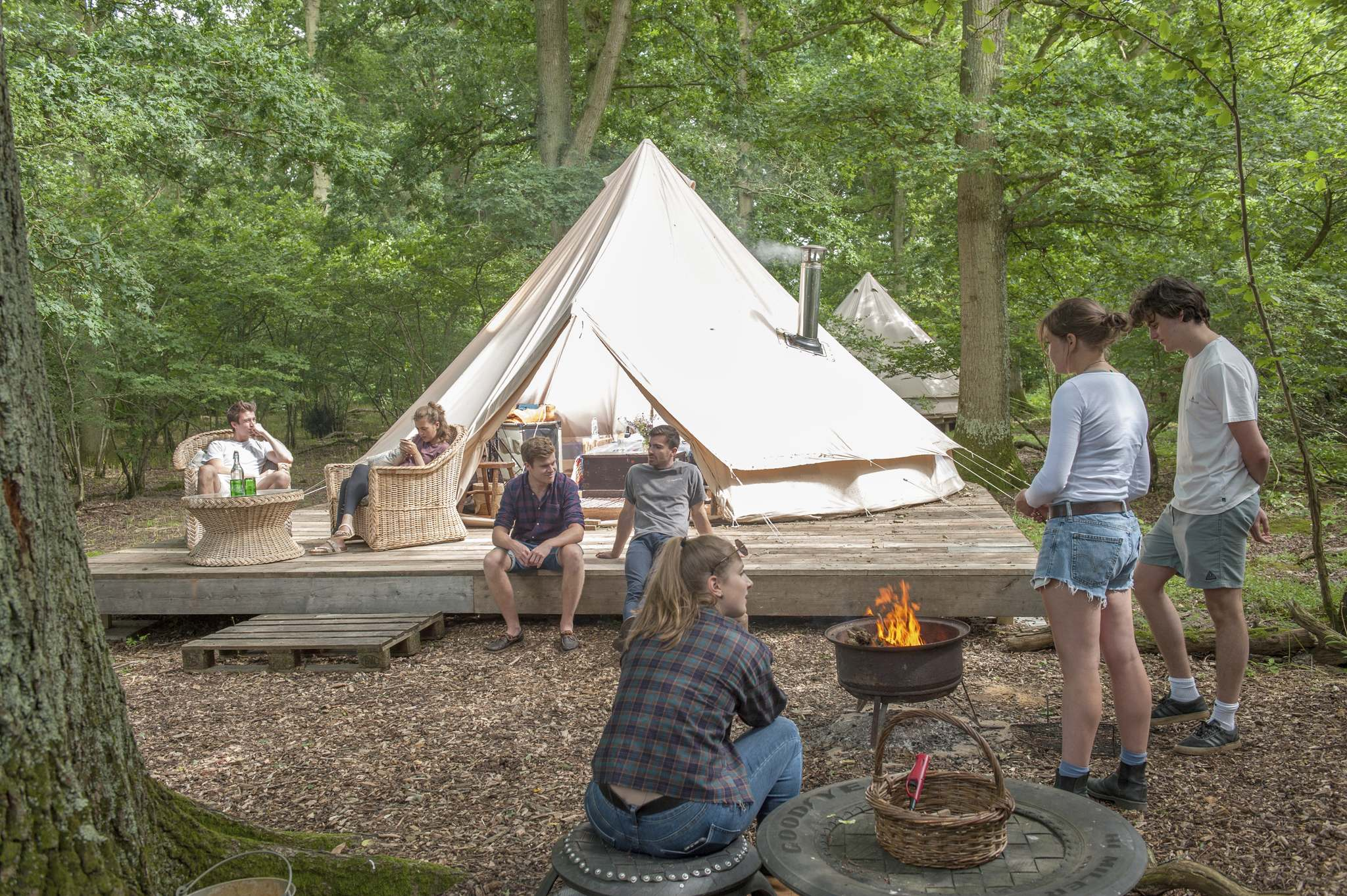 Charlie Burrell</p><p>From Easter to the end of October, visitors to the Knepp Castle estate can &#8216;glamp&rsquo; in rustic huts, yurts, treehouses or bell tents.</p></p>