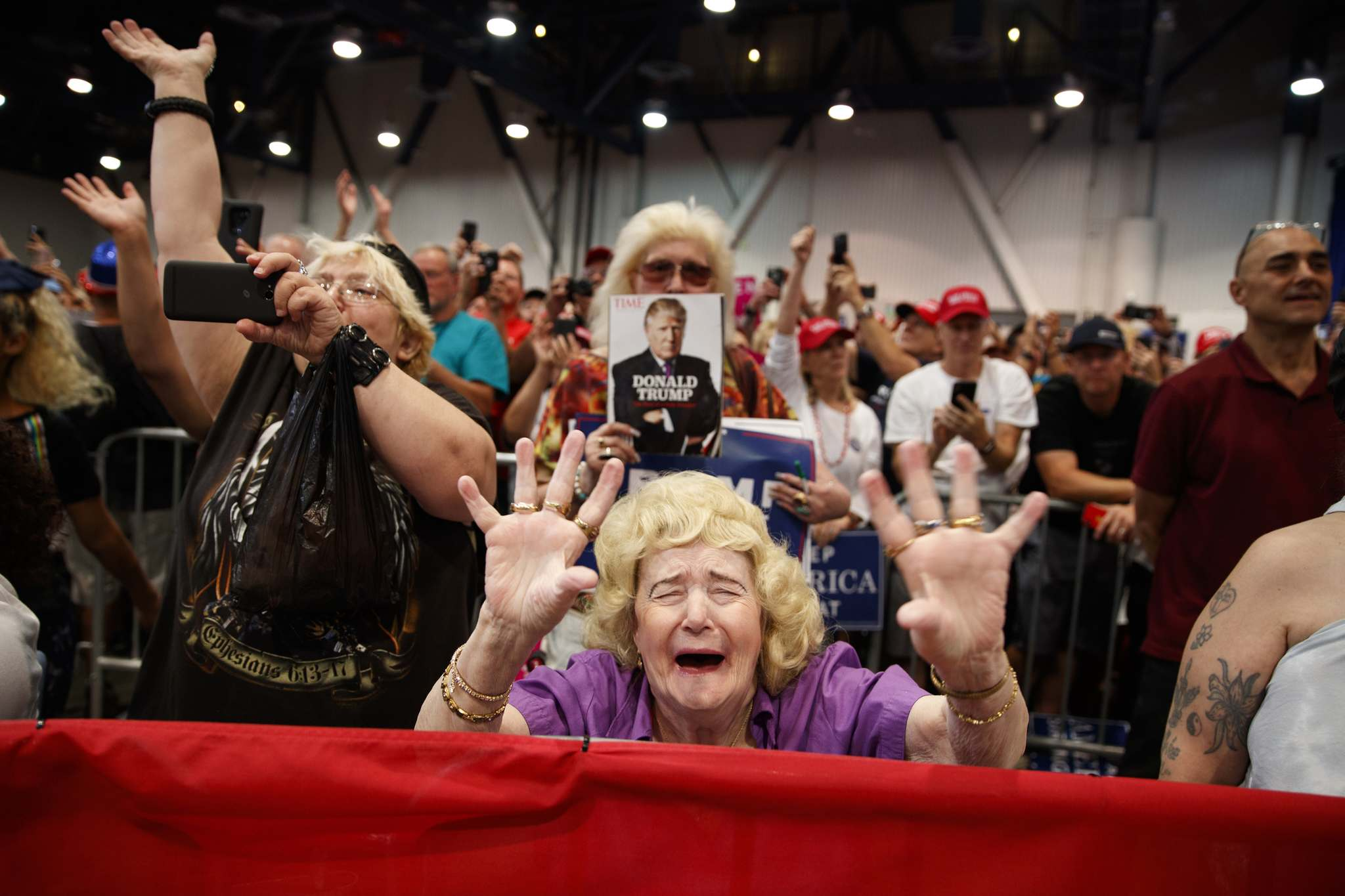 With the current president, politicians have been given a case study in how to muster unwavering support, as evident by Trump rallies across the U.S. (Evan Vucci / Associated Press files)