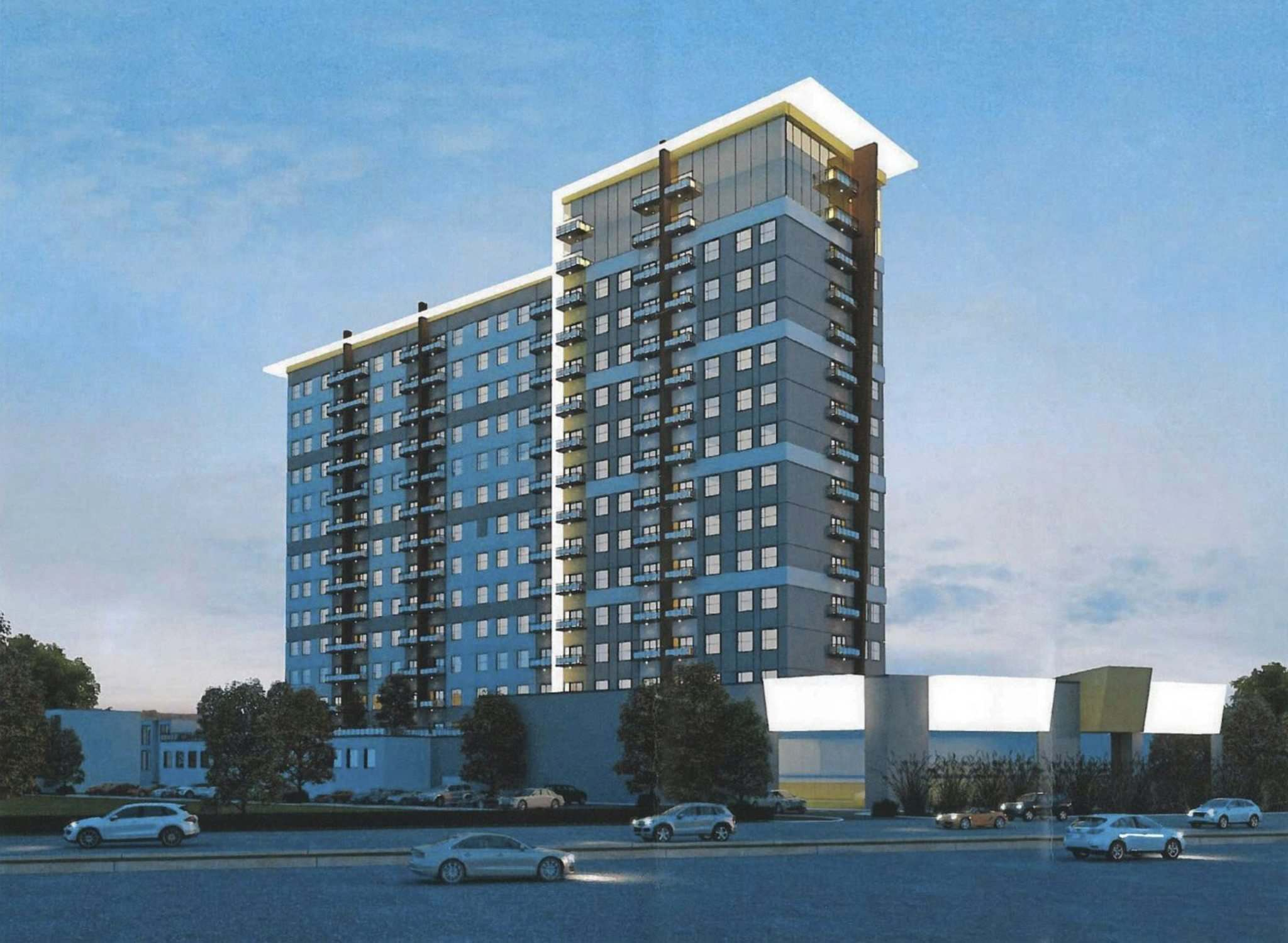 CITY OF WINNIPEG</p><p>Proposed 410-unit, 15,000-square-foot-commercial mixed use development at 3021 Pembina Hwy.</p>