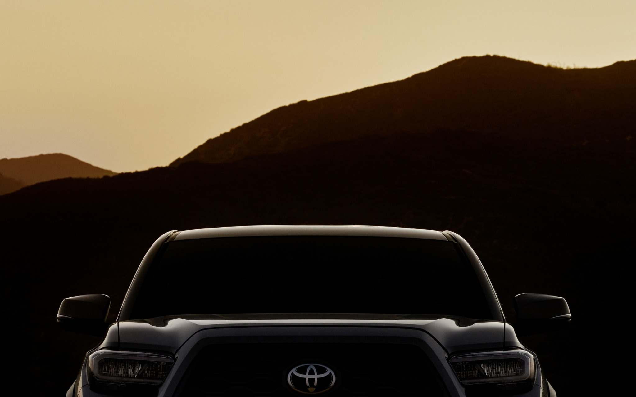 ToyotaIf you want a glimpse of the 2020 Tacoma, this is all Toyota is providing, for now. The truck will be unveiled Feb. 7 at the Chicago Auto Show.