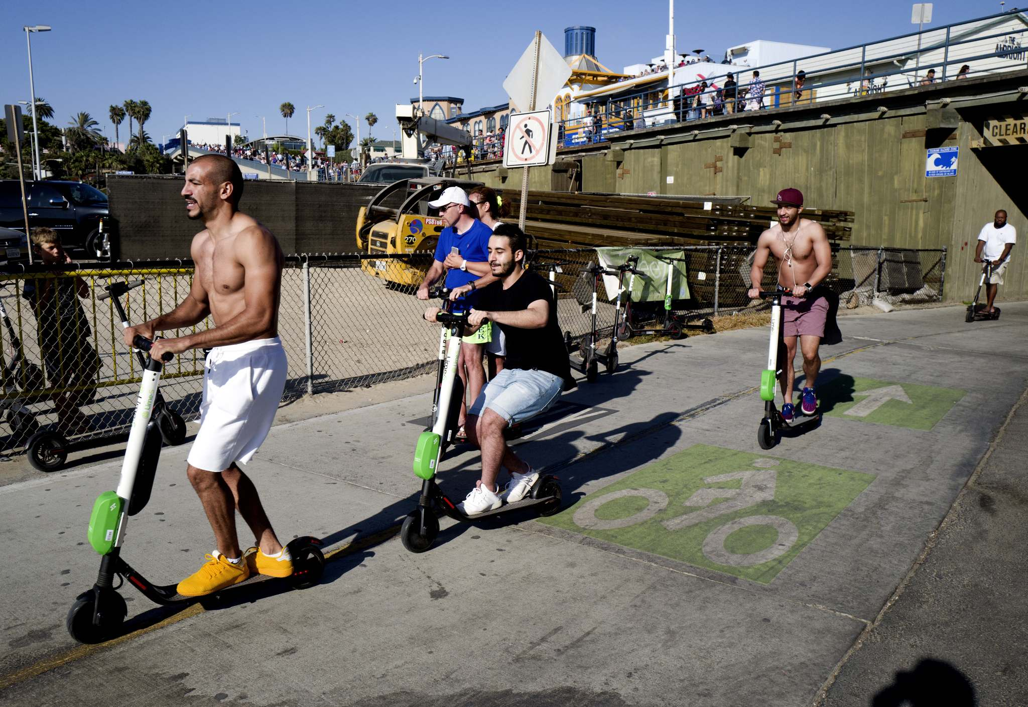 Some jurisdictions restrict the use of e-scooters to active transportation networks. (Richard Vogel / The Associted Press files)</p>