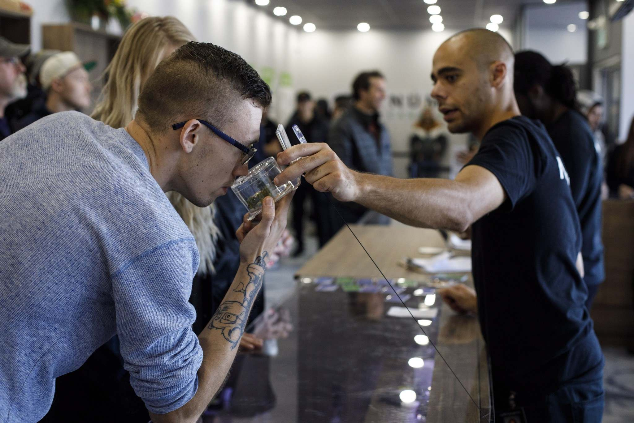 Alberta has issued 75 licences for private cannabis stores. (Canadian Press/Jason Franson)</p>