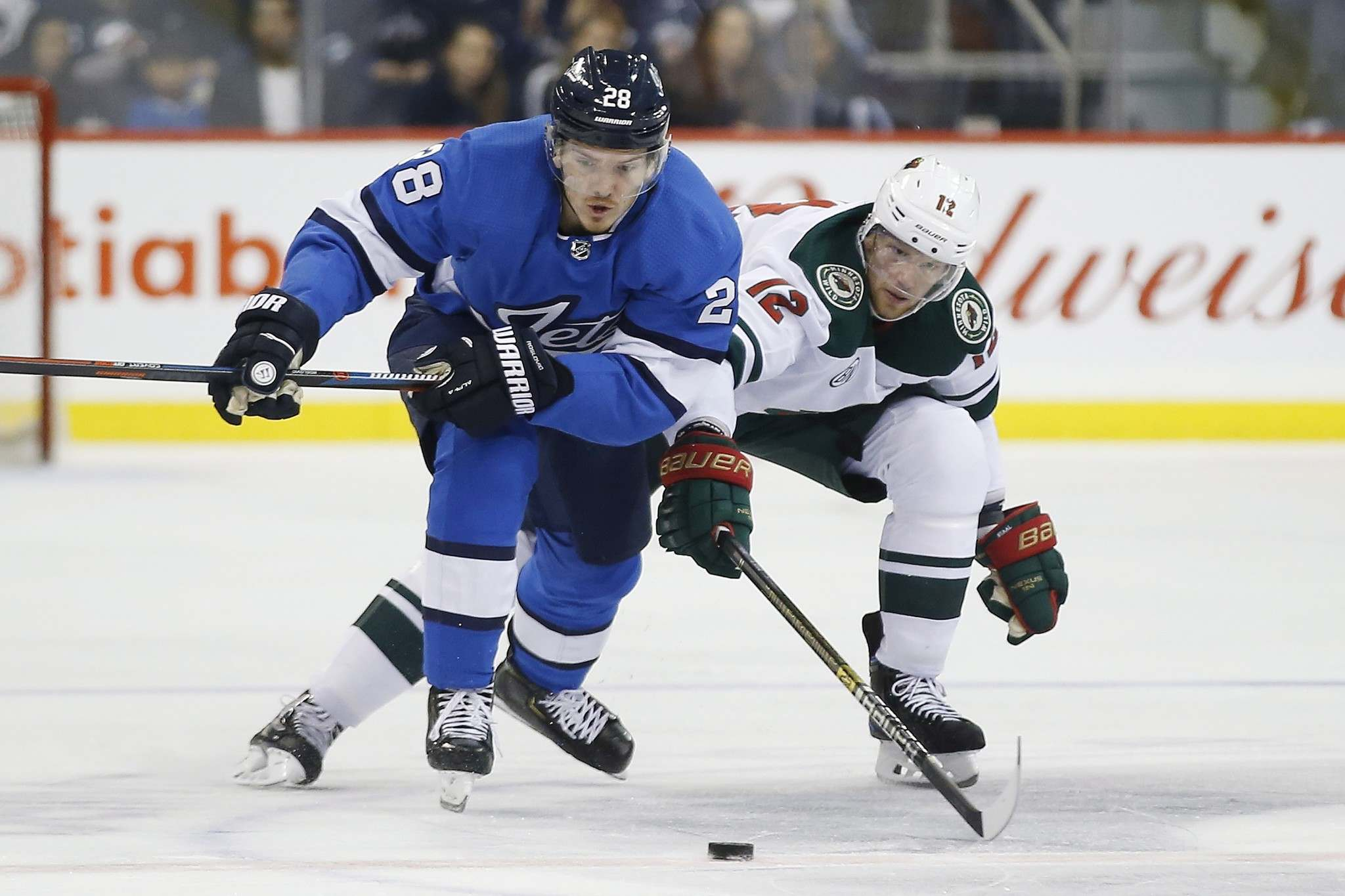 John Woods / The Canadian Press</p><p>Jack Roslovic, seen defending against the Minnesota Wild&rsquo;s Eric Staal, has the potential to be the offensive boost the Jets will need heading into the playoffs.</p>