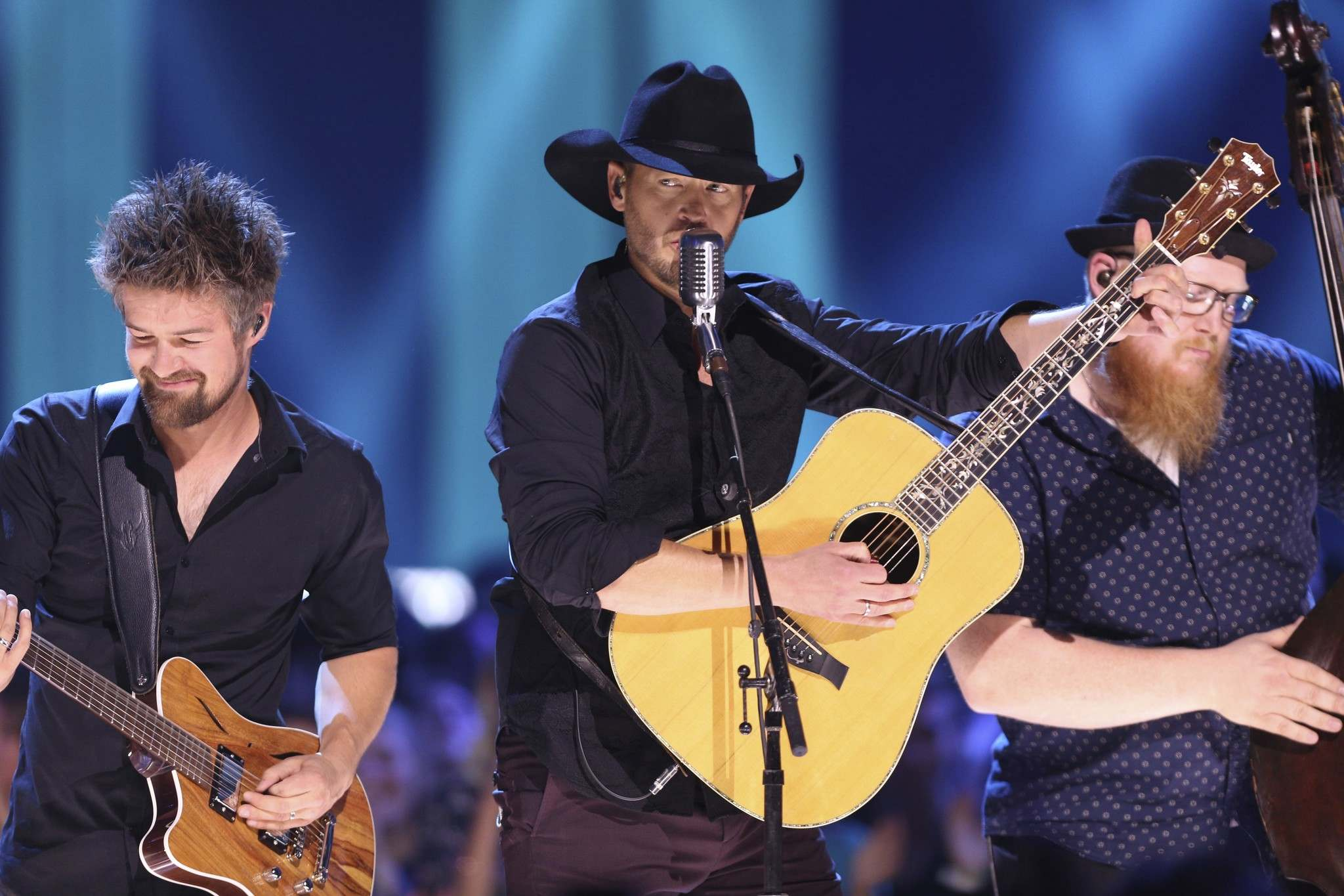 Brandt performs at the Canadian Country Music Awards in Hamilton, Ont. last year. (Peter Power / Canadian Press files)