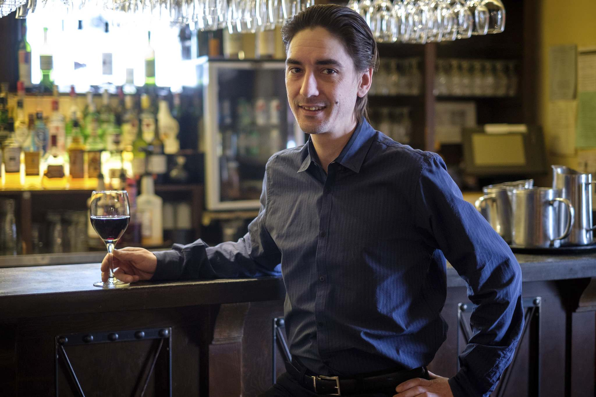 Restaurant Manager and resident Sommelier Curtis Love.</p>
