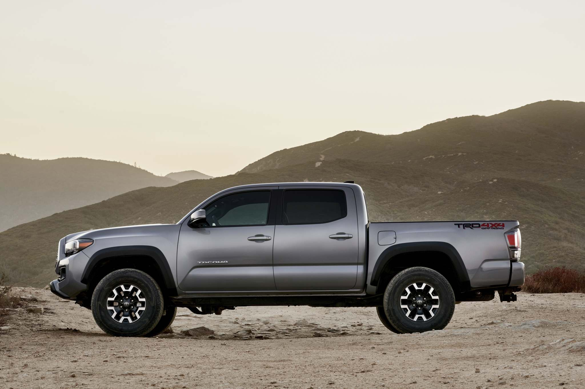 Toyota's 2020 Tacoma Off-Road comes standard with TRD-tuned Bilstein shocks, a locking rear differential and Hill Start Assist Control.