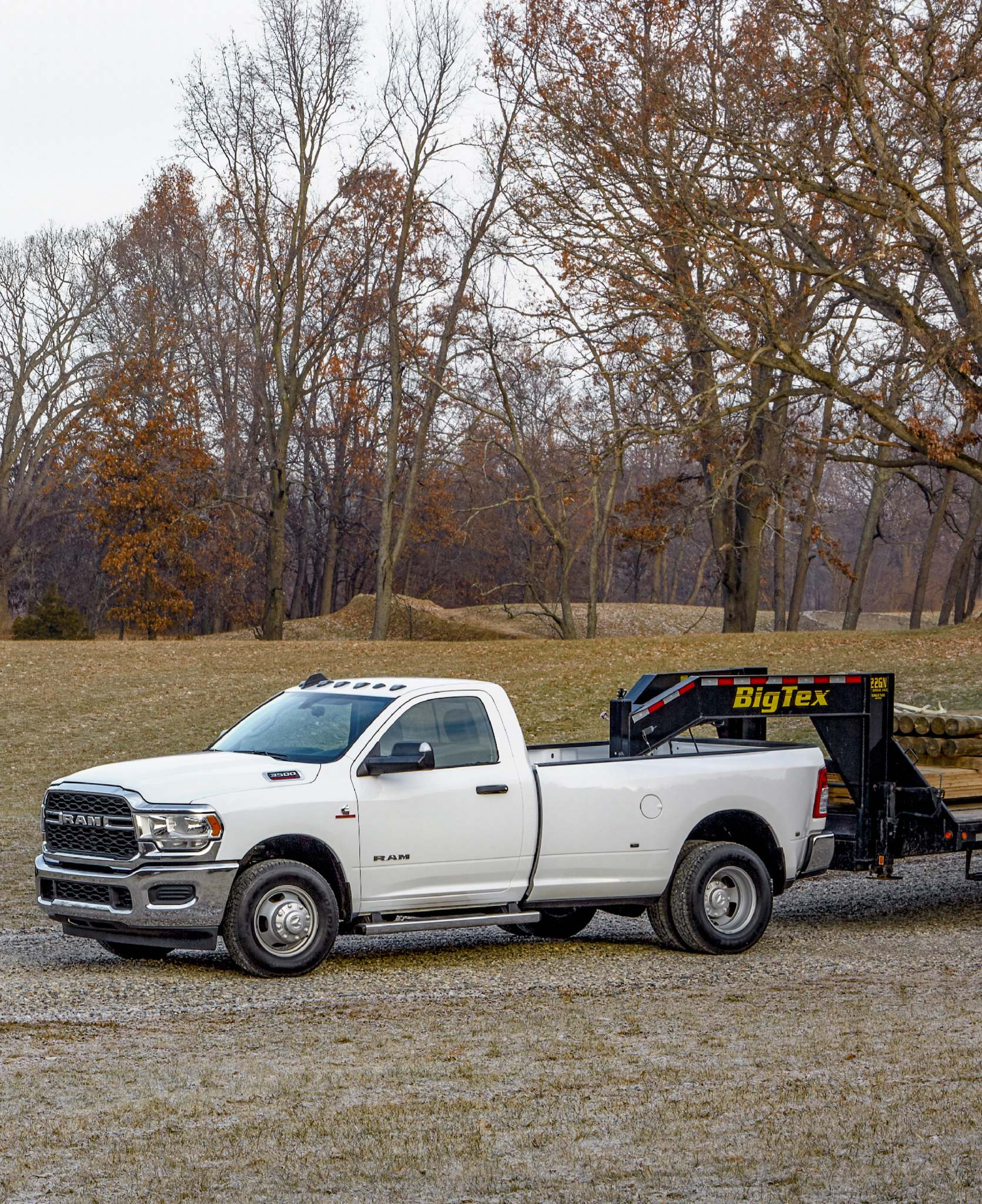 The new Ram 3500 Tradesman dually regular cab can be configured to tow more than 35,000 pounds.