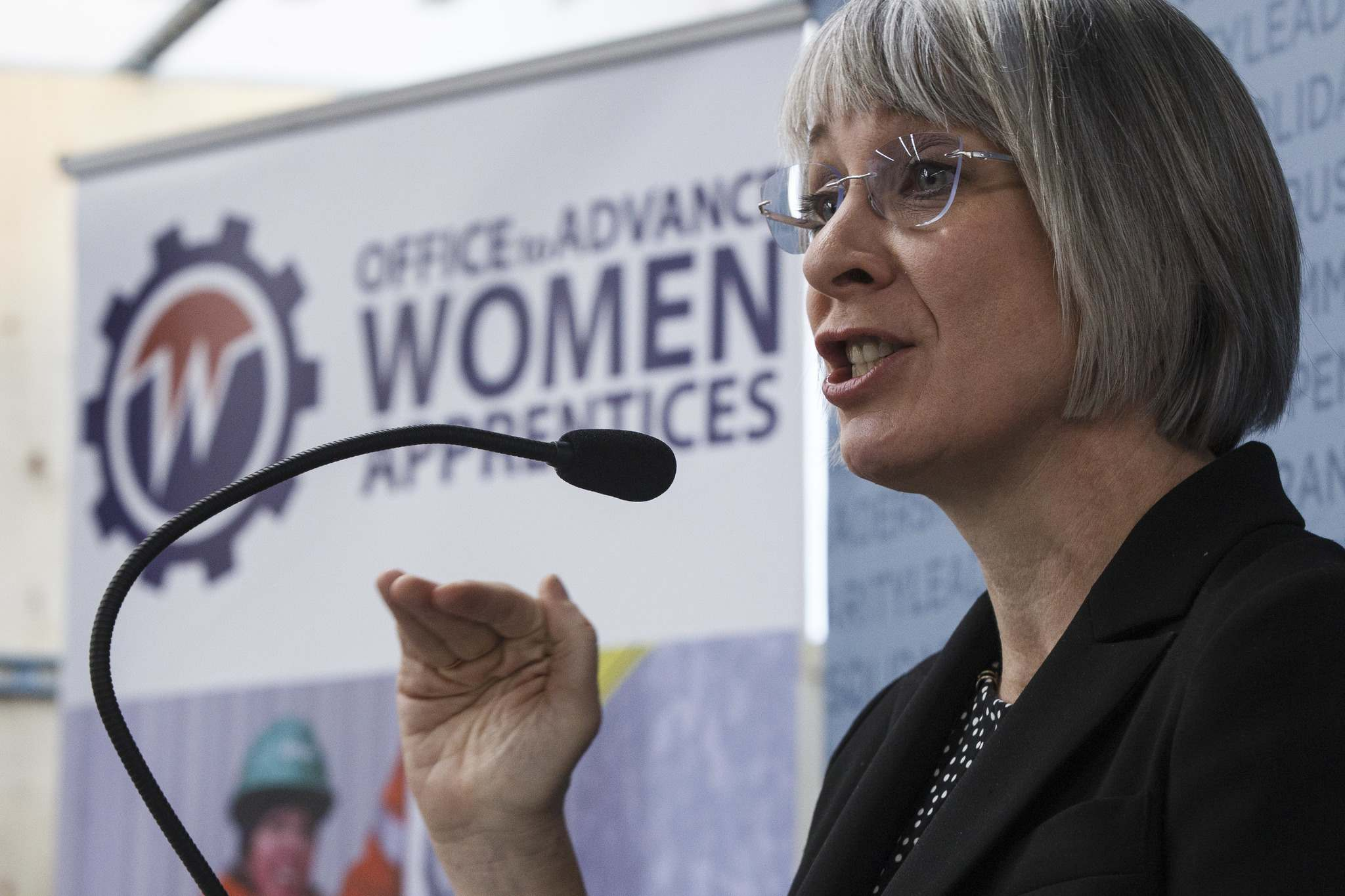 MIKE DEAL / WINNIPEG FREE PRESS</p><p>Patty Hajdu, Federal Minister of Employment, Workforce Development and Labour announces $3.1 in funding for Canada's Building Trades Unions for its project, An Innovative Model to Enhance Entry, Advancement, and Employment Outcomes of Women Apprentices.</p>