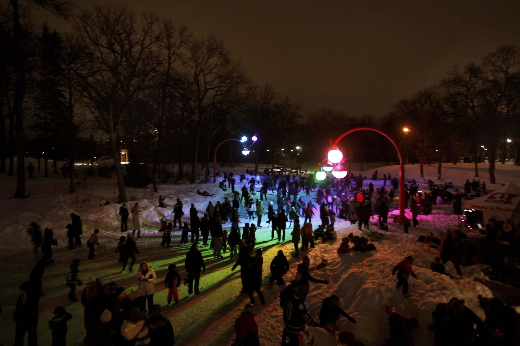 PHIL HOSSACK / WINNIPEG FREE PRESS FILES</p><p>Takashi Iwasaki and Nadi Design&rsquo;s interactive project Bokeh drew a huge crowd during its official opening &mdash; a skating party &mdash; at the duck pond in Kildonan Park on Jan. 12.</p></p>
