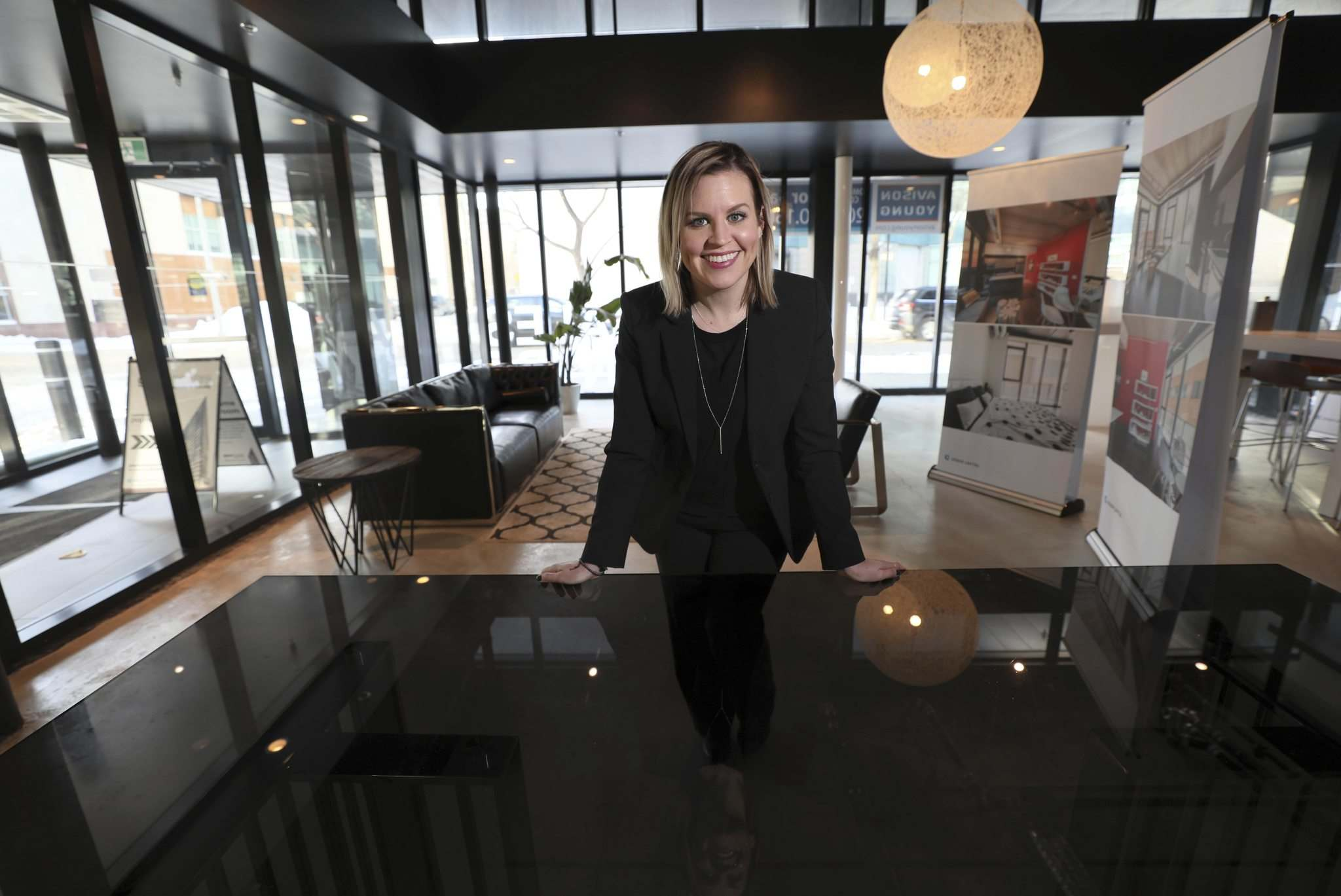 Avison Young senior associate Kyra Winfield is marketing the space as commercial condos.</p>