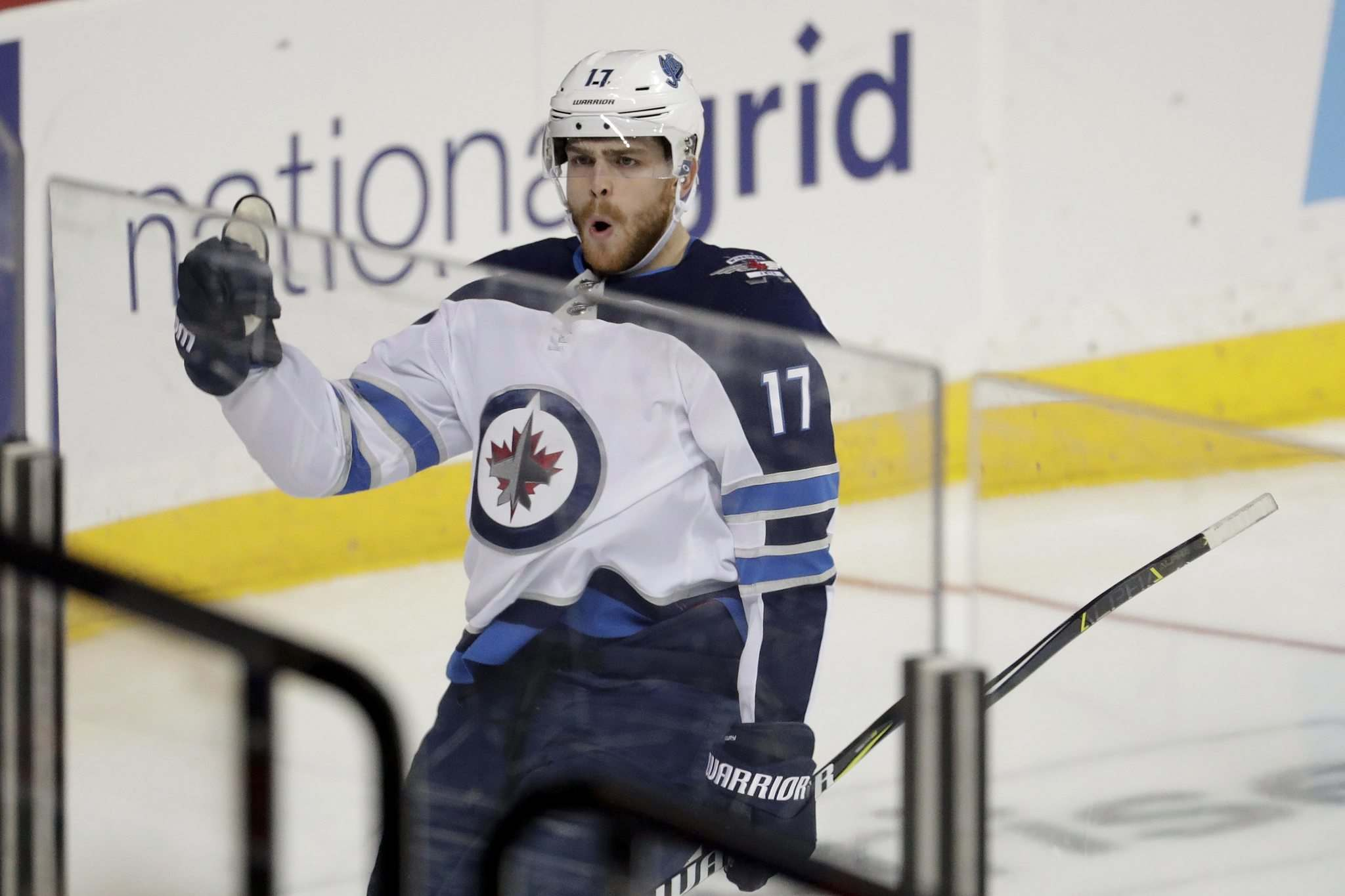 Adam Lowry will return to the Jets lineup after serving his two-game suspension.</p>