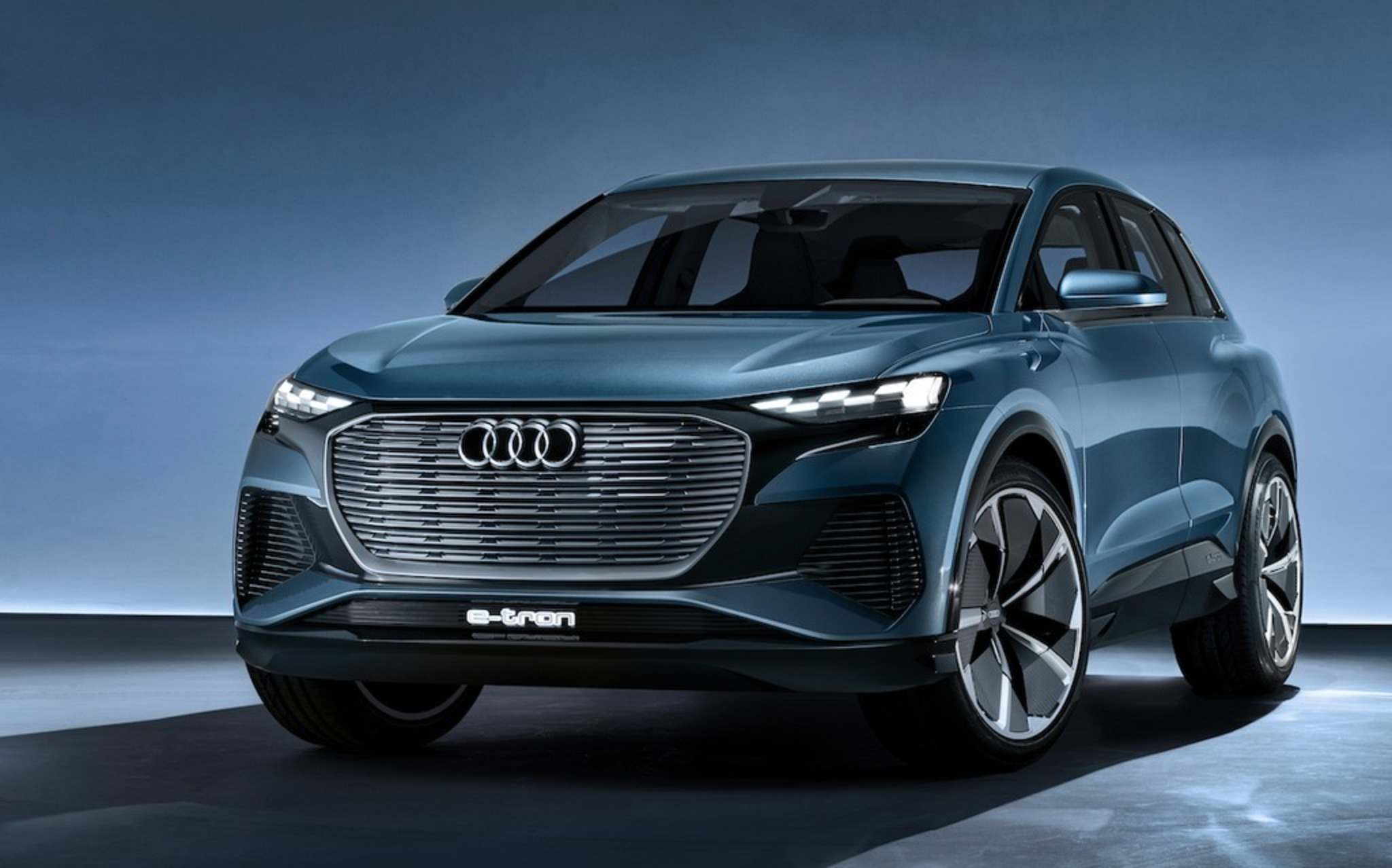 AudiAudi's fully electric Q4 e-tron Concept is based on Volkswagen's MEB architecture.