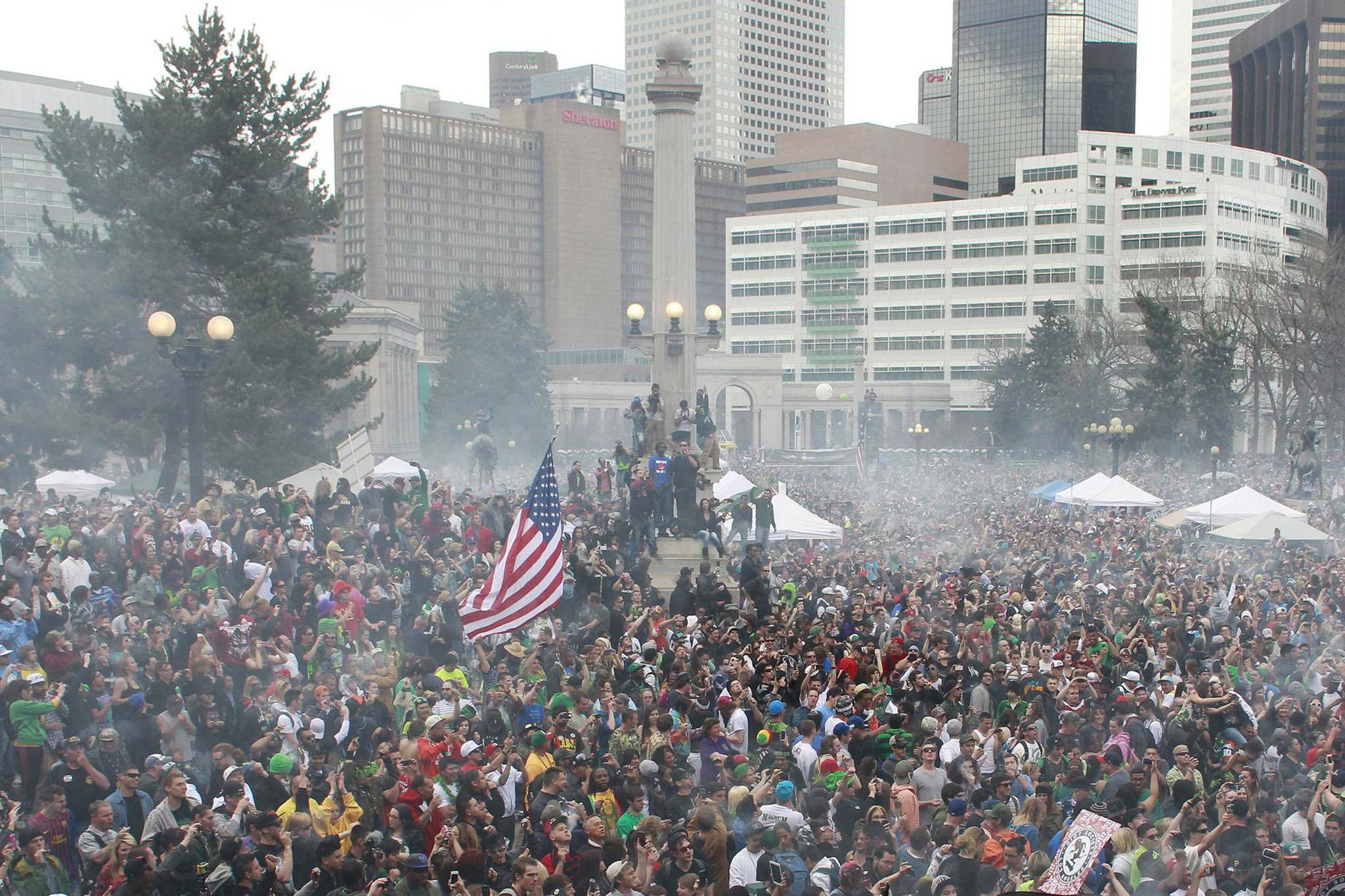 A 2018 study suggested that April 20 cannabis celebrations, known as 4/20, were responsible for an increase in fatal car crashes in the U.S. (Brennan Linsley / The Associated Press files)</p>