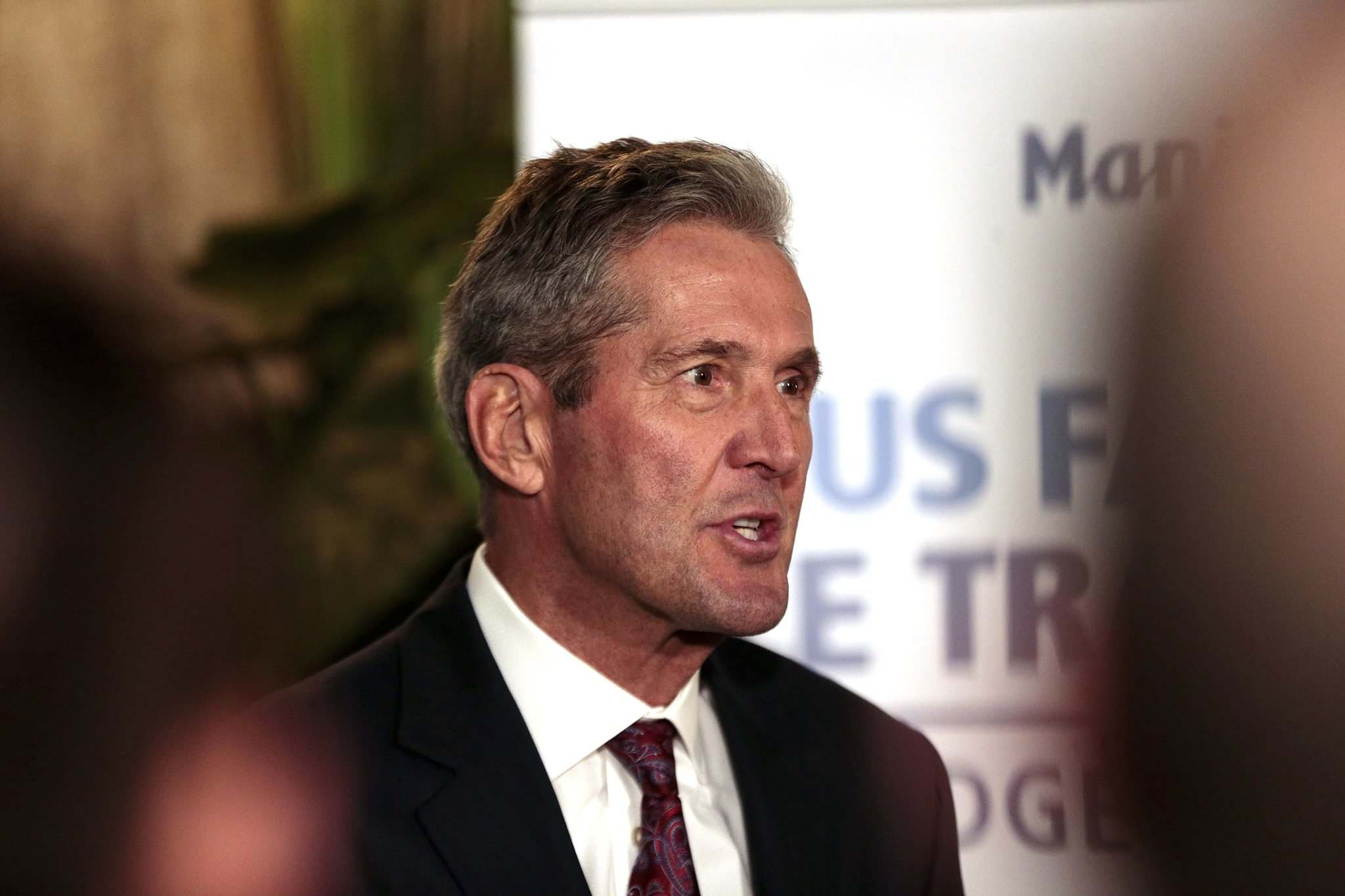 """PHIL HOSSACK / WINNIPEG FREE PRESS</p><p>""""That's a subsidy directly to political organizations that does nothing for Manitobans,"""" Premier Brian Pallister said Friday.</p>"""